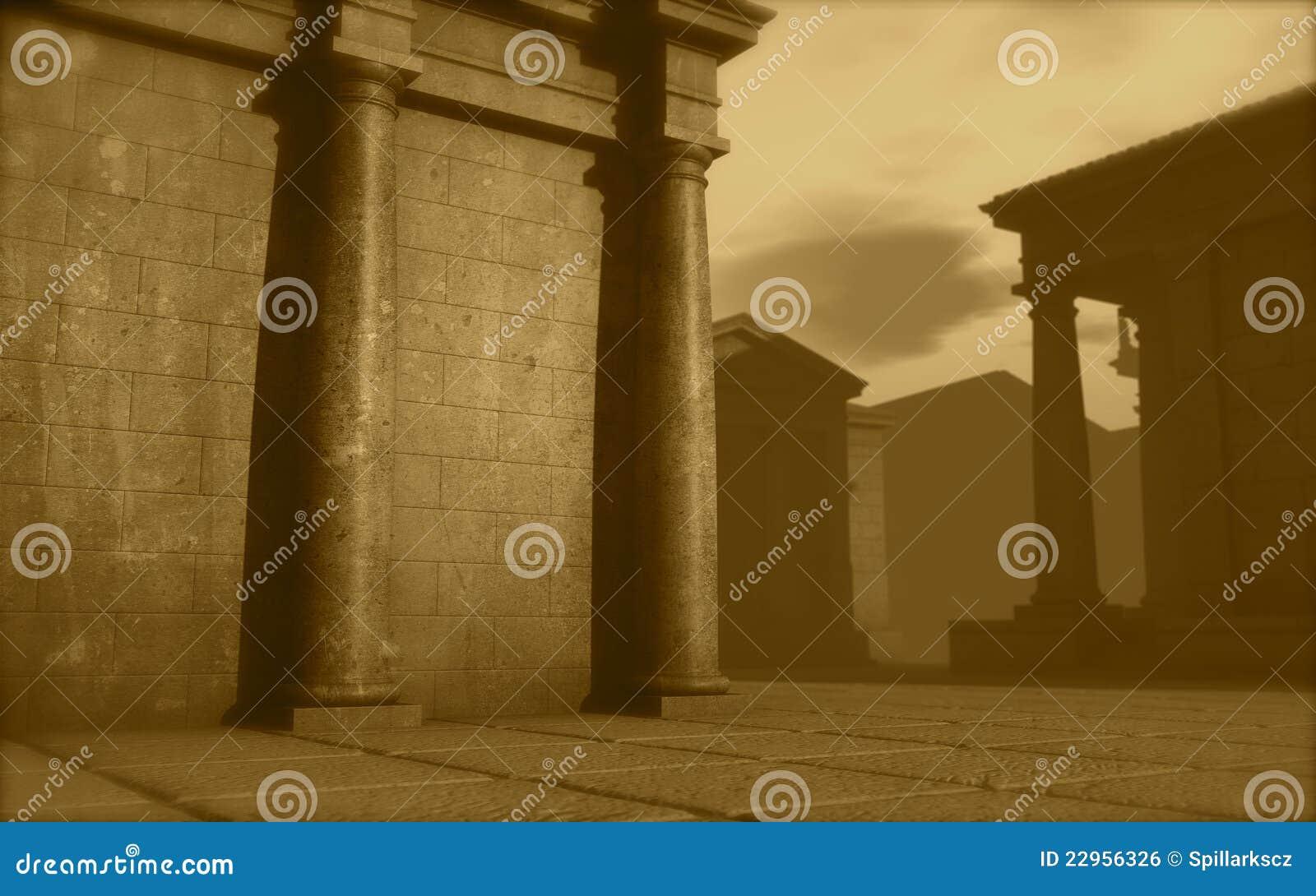 Il monumento romano di architettura 3d rende illustrazione for Programmi 3d architettura