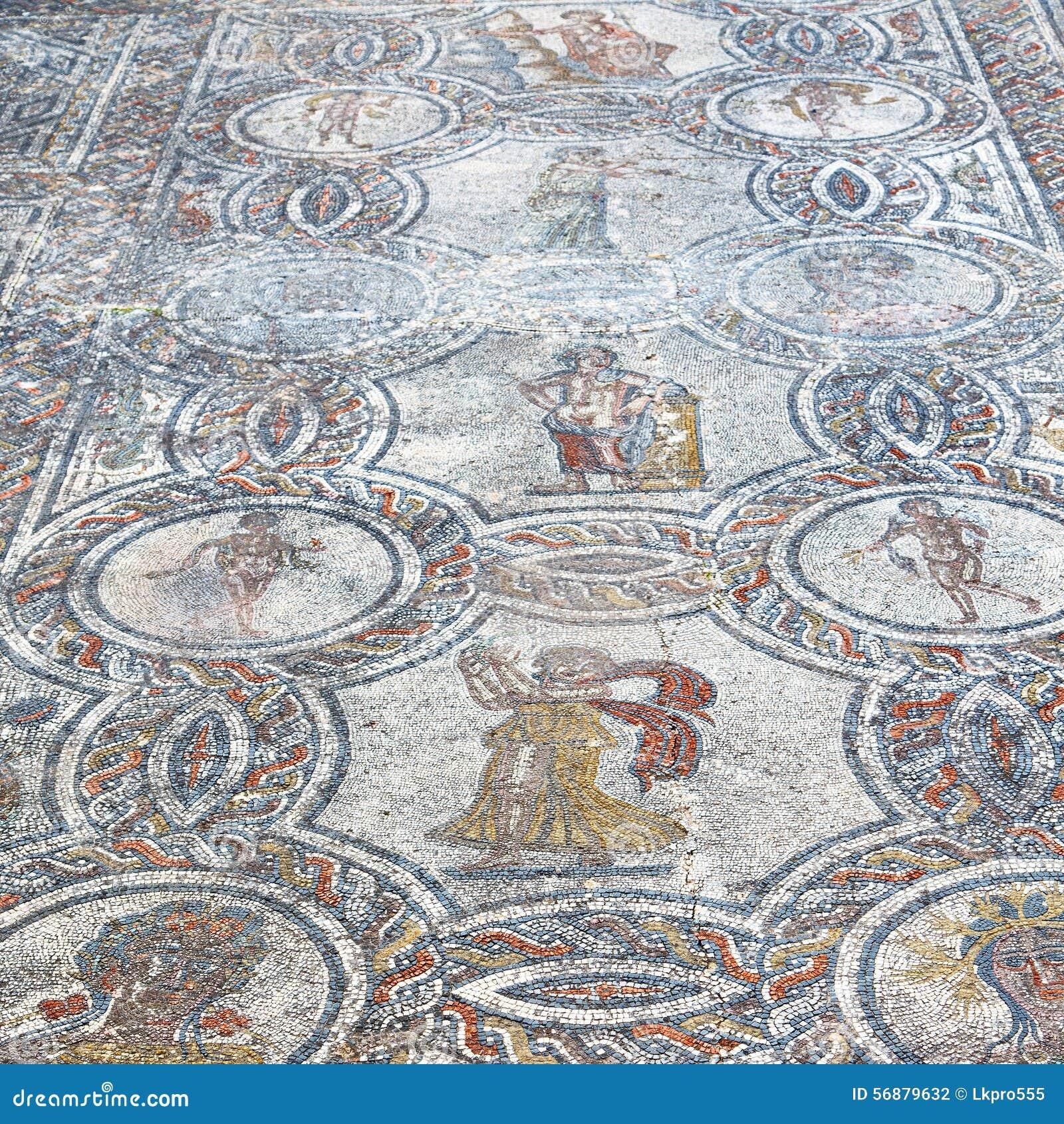 Il mosaico del tetto nella vecchia città Marocco Africa e la storia viaggiano