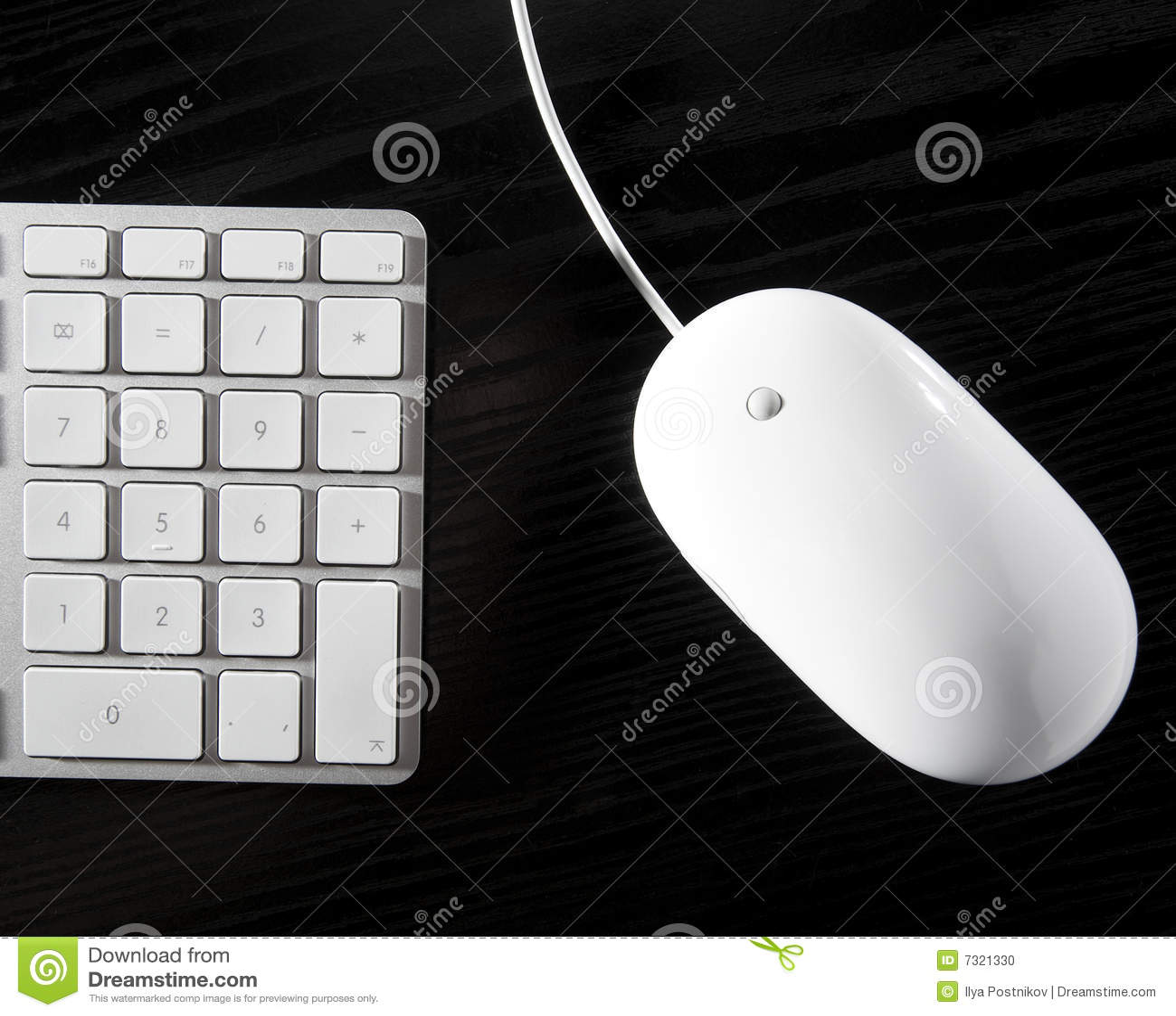 Il mouse bianco e la tastiera