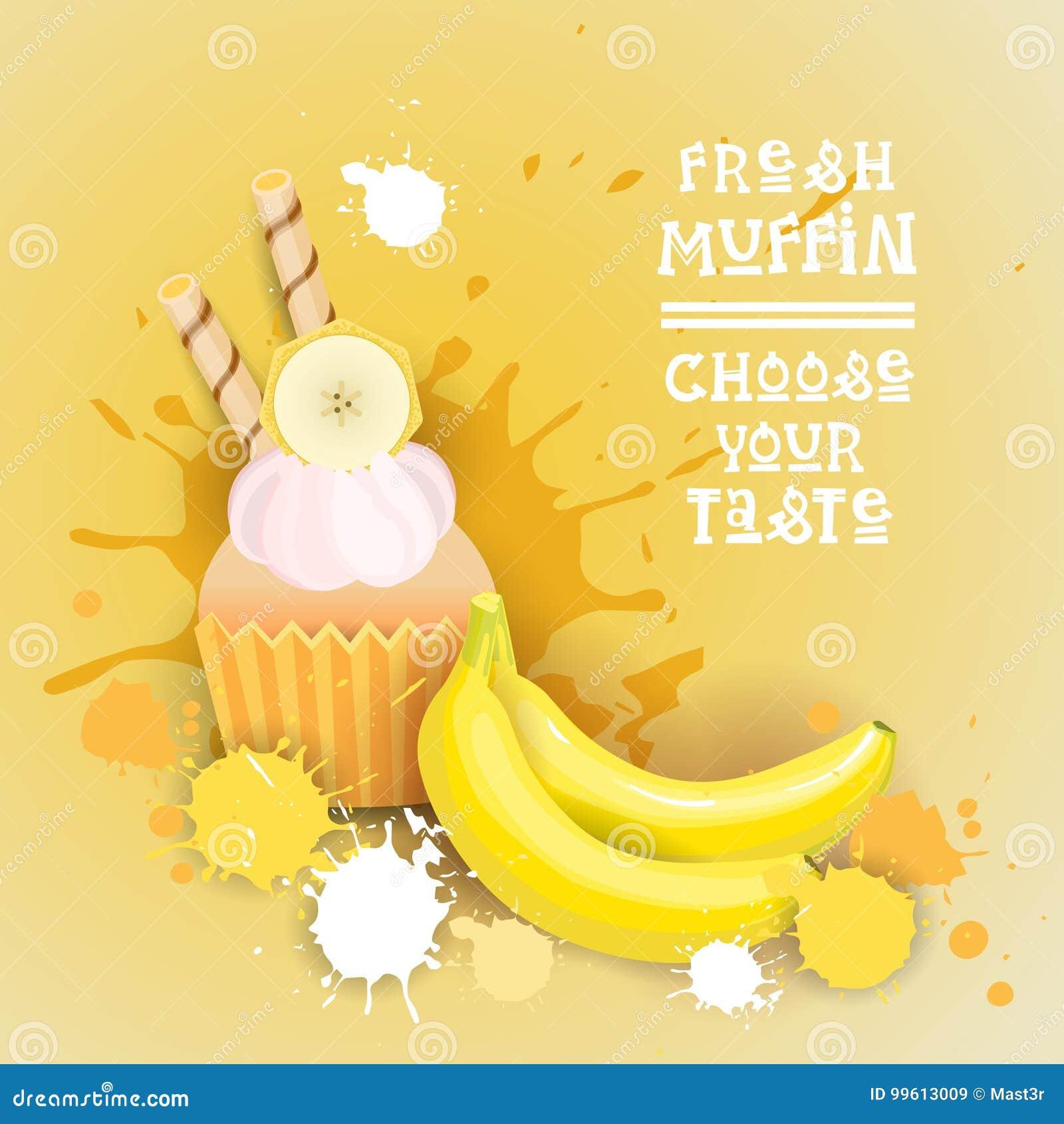 Il muffin fresco sceglie il vostro alimento delizioso del dessert di Logo Cake Sweet Beautiful Cupcake del gusto