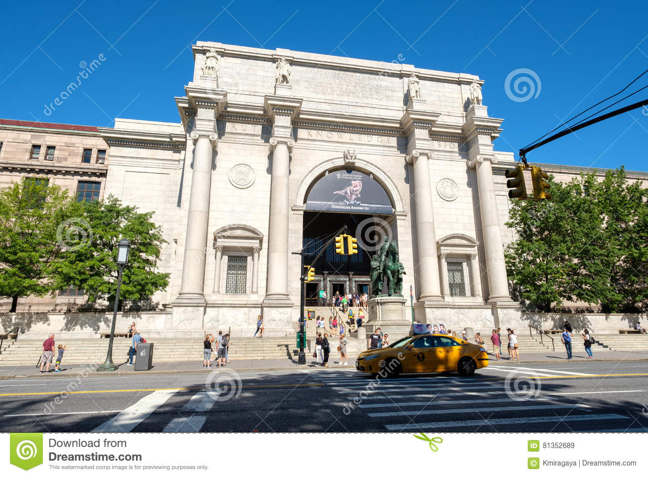 Museo Storia Naturale New York.Il Museo Americano Di Storia Naturale A New York Immagine Stock