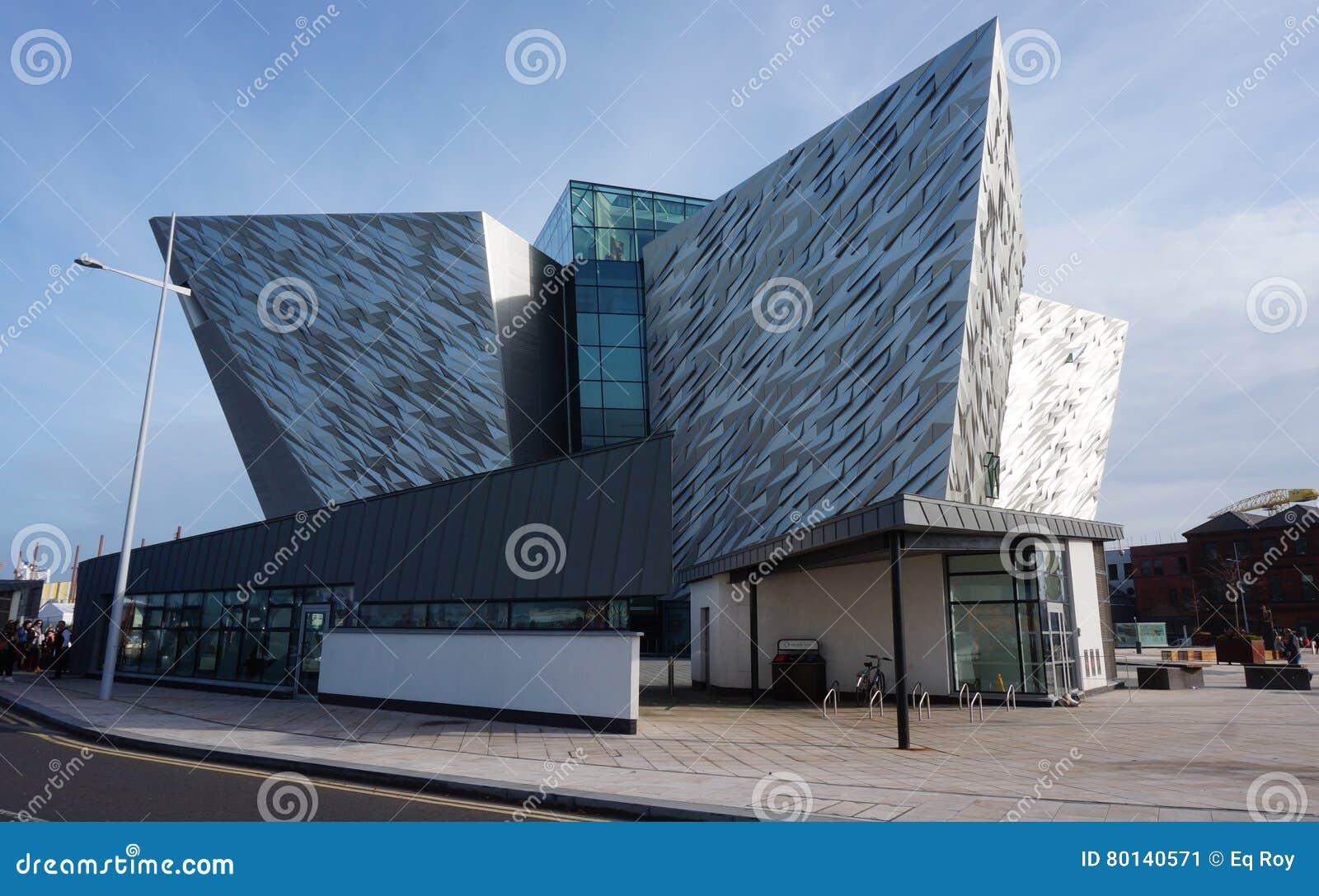 Il museo titanico di esperienza a Belfast, Irlanda del Nord
