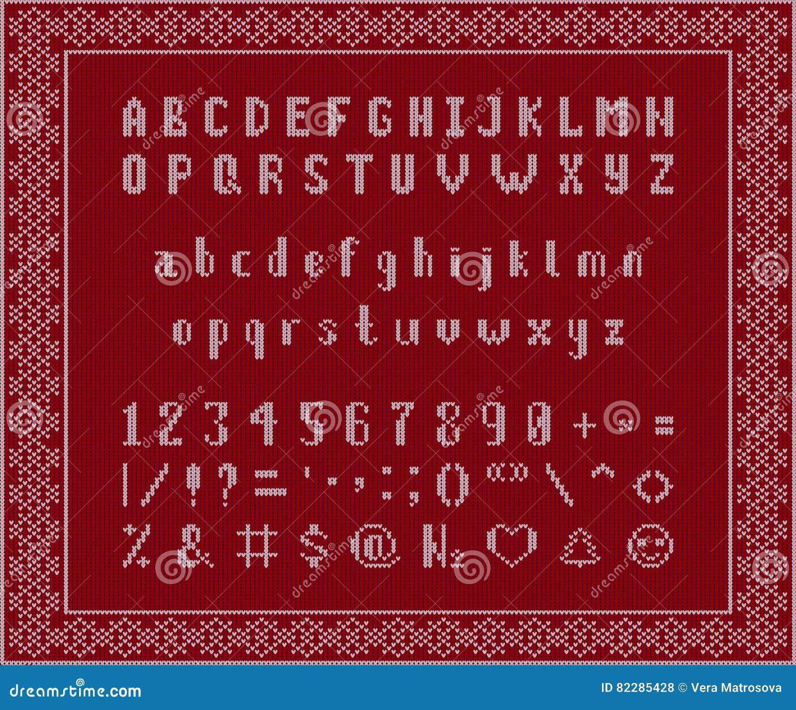 Natale In Latino.Il Natale Ha Tricottato La Fonte Alfabeto Latino Su Fondo