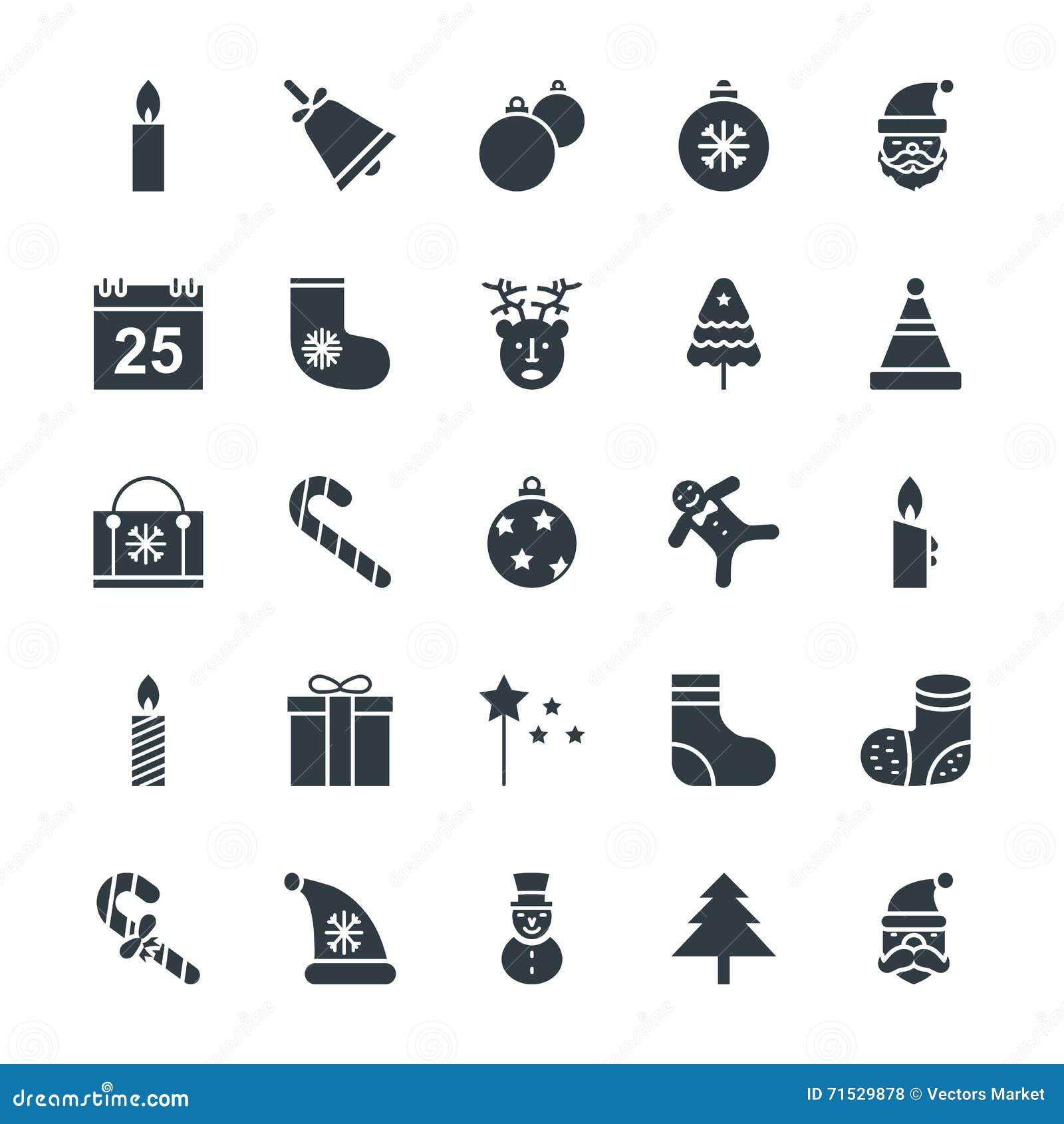 Il Natale raffredda le icone 1 di vettore