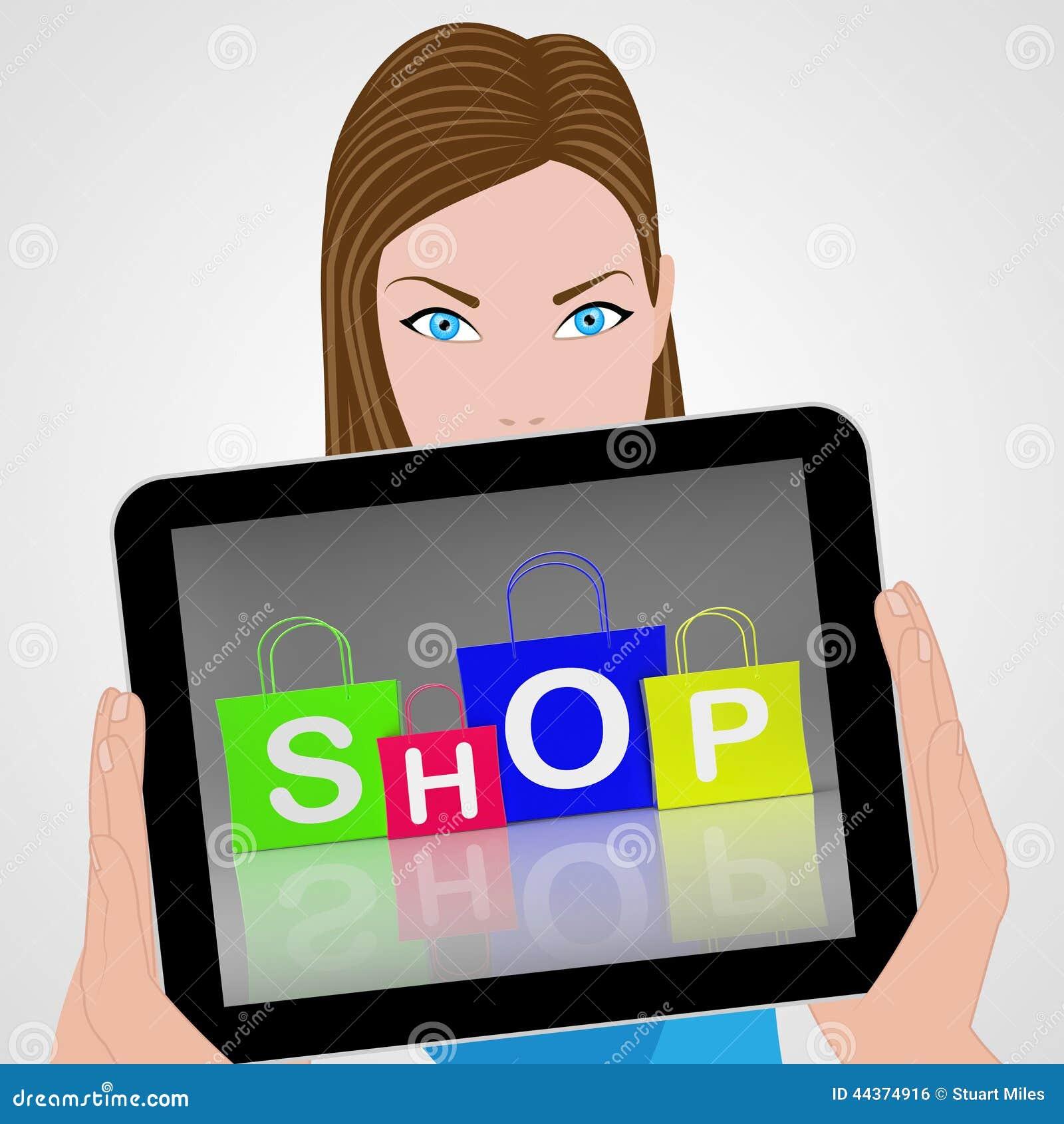 Il negozio insacca il dettagliante e l acquisto delle esposizioni