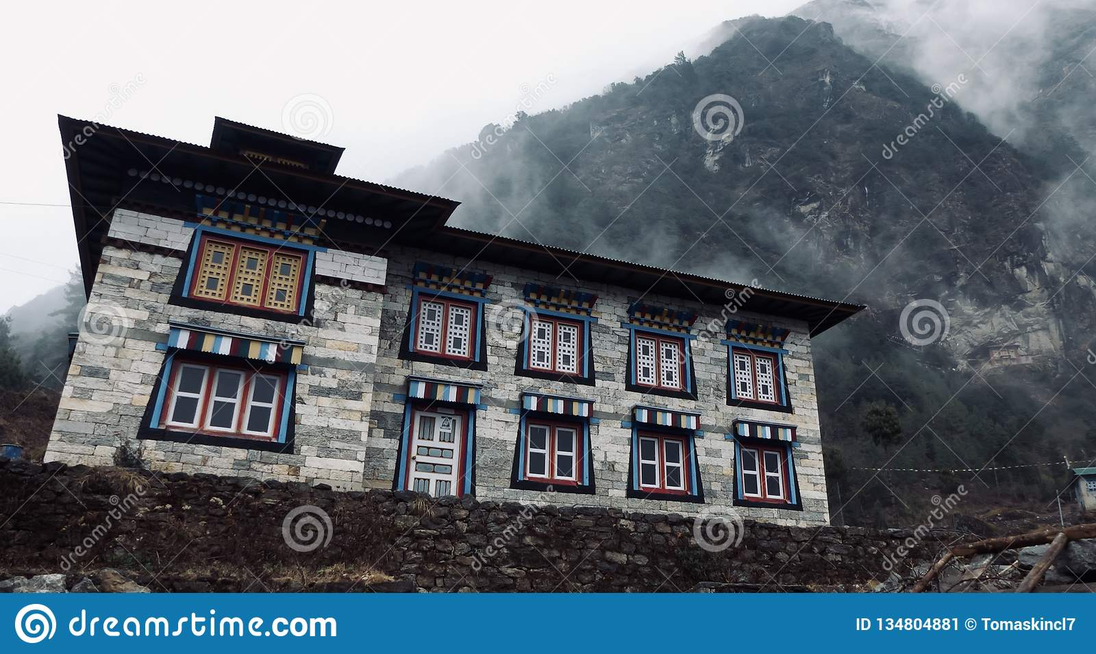 Il Nepal, bei monumenti storici, modo a Everest