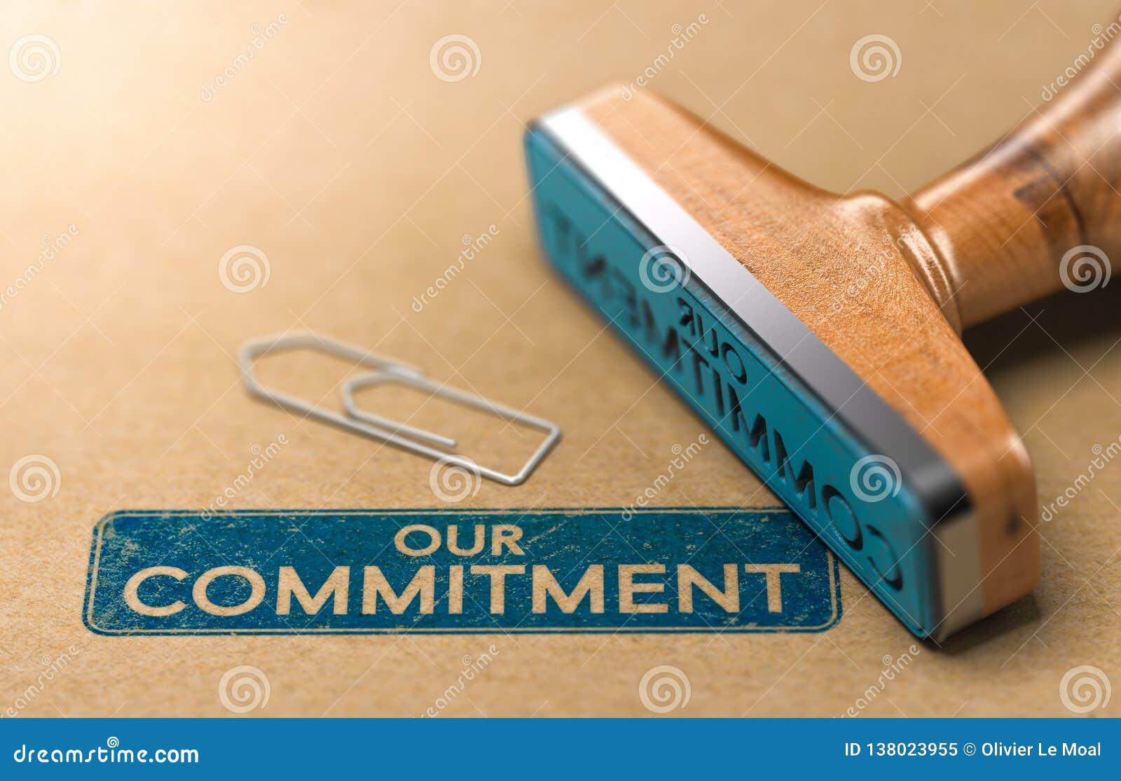 Il nostro impegno, concetto del timbro di gomma
