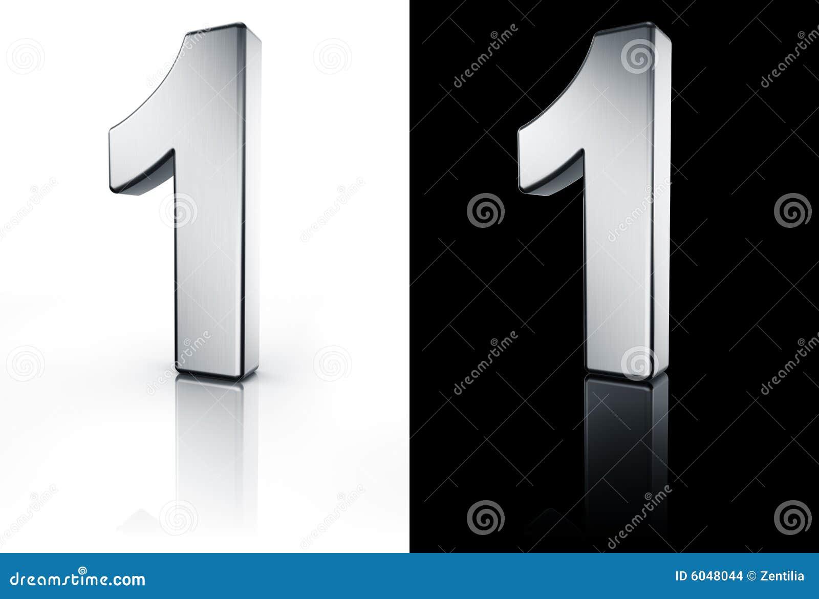 Il numero 1 sul pavimento bianco e nero illustrazione di for Pavimento bianco e nero