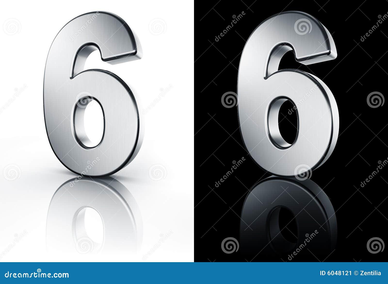 Il numero 6 sul pavimento bianco e nero immagine stock for Pavimento bianco e nero