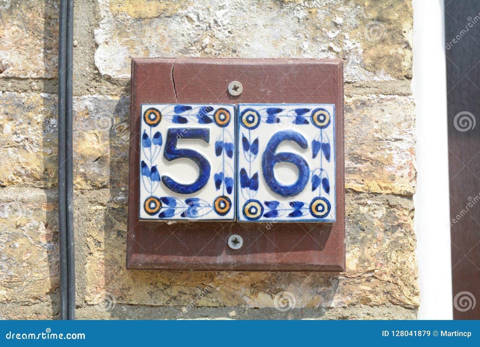 Piastrella con numero civico numero civico segno immagini numero