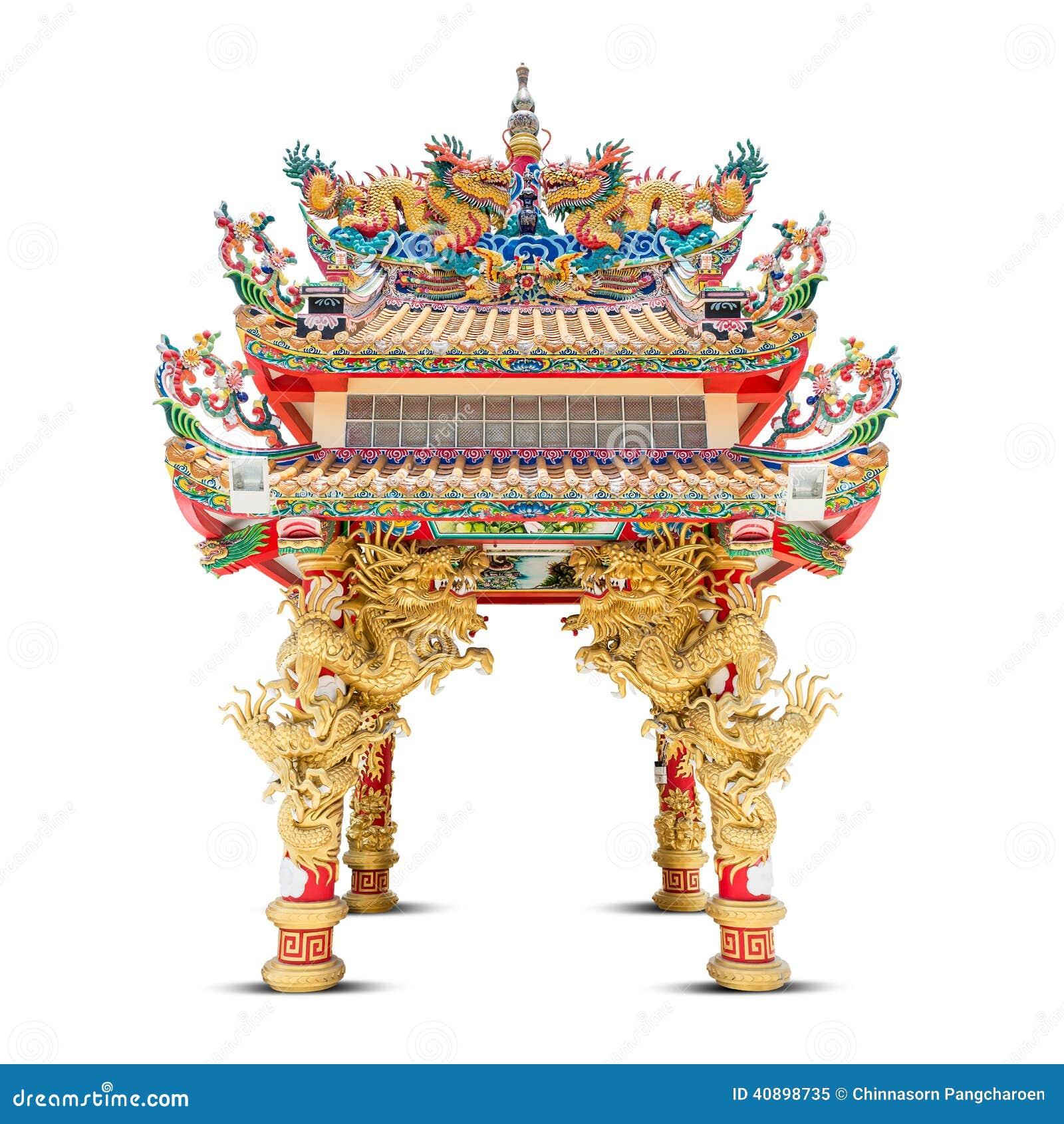 Il padiglione del drago immagine stock immagine di dorato for Piani di progettazione del padiglione
