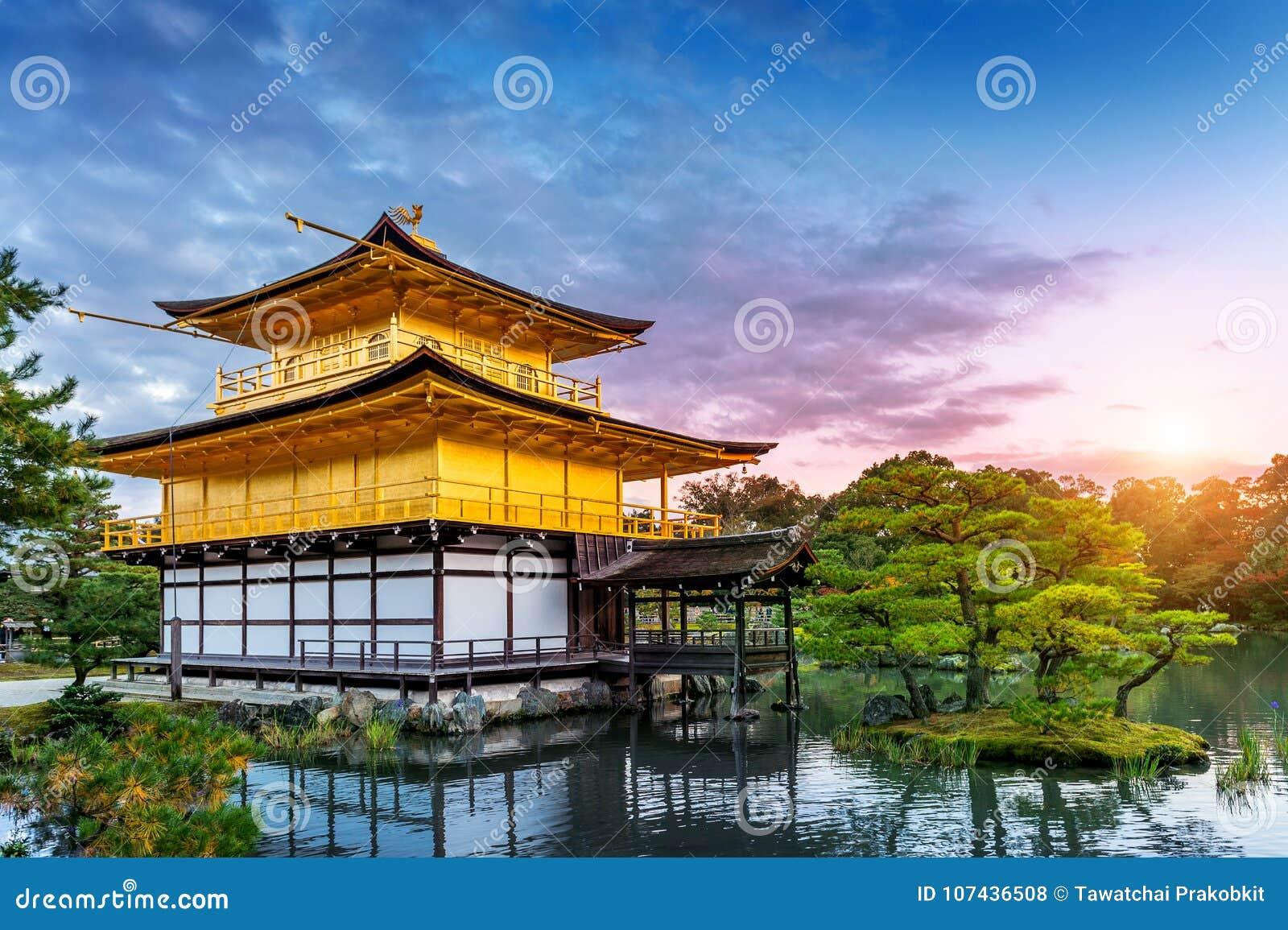 Il padiglione dorato Tempiale di Kinkakuji a Kyoto, Giappone