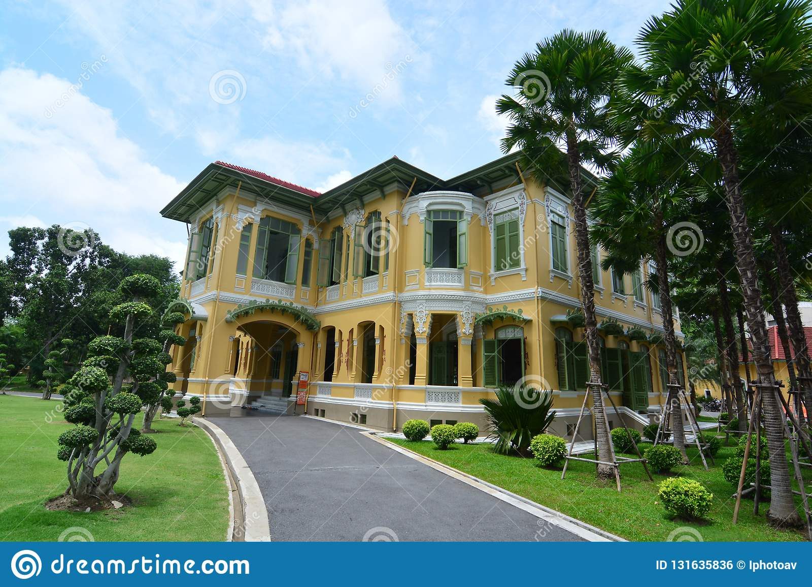 Il palazzo di Parusakawan è un sito storico a Bangkok, villa di Chitralada in cui principe ereditario