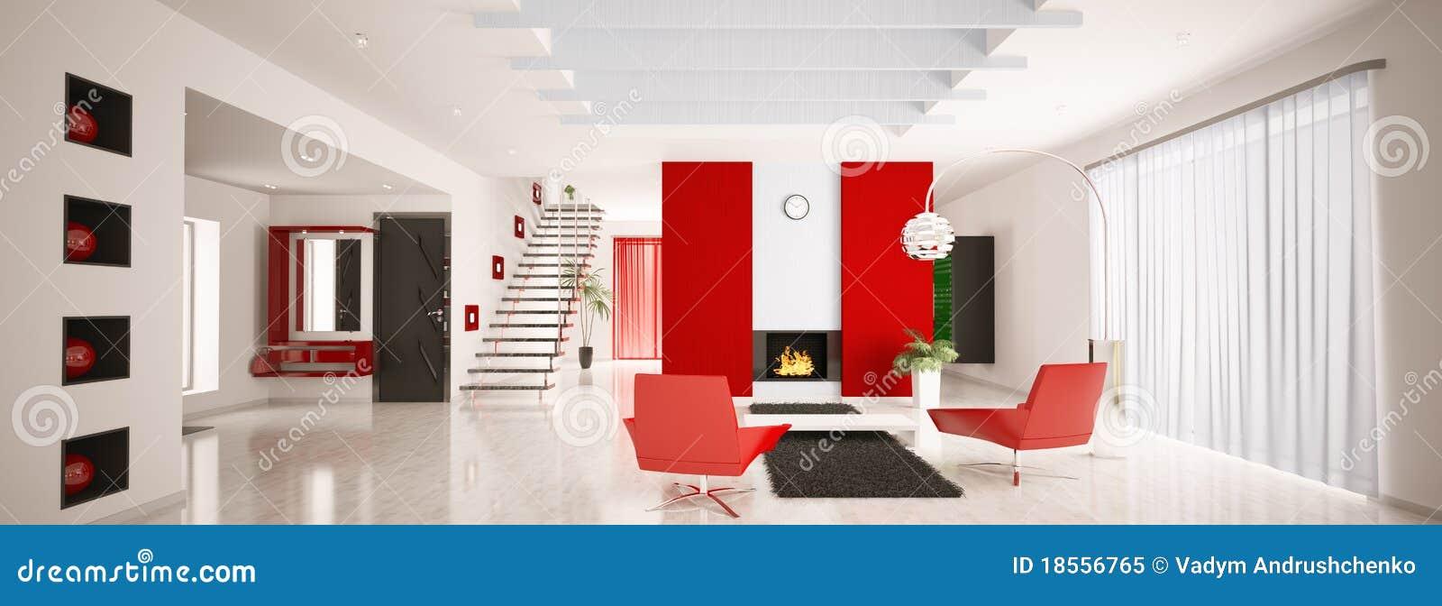 Il panorama interno 3d dell 39 appartamento moderno rende for Foto appartamenti moderni