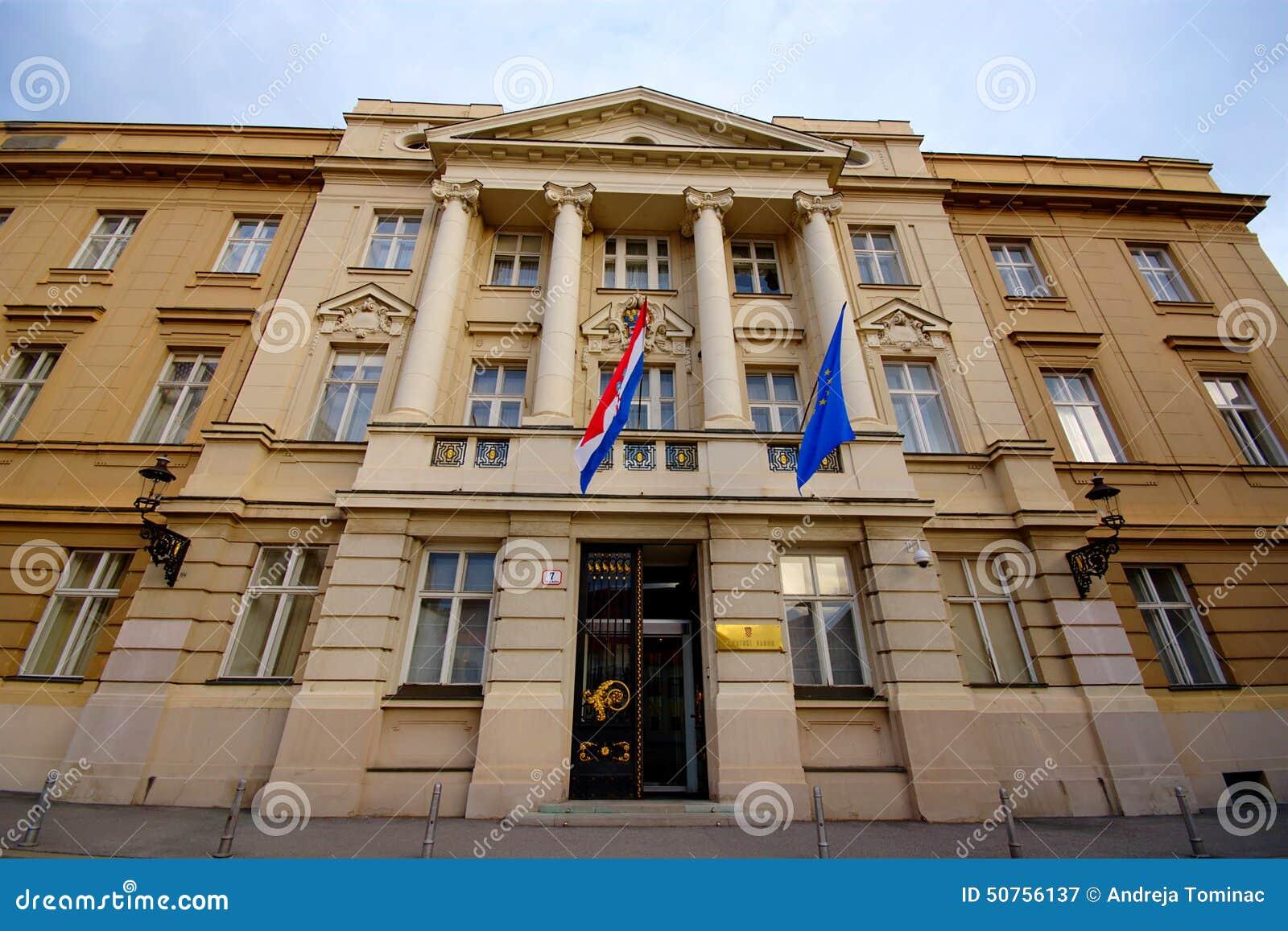 Il parlamento croato zagabria fotografia editoriale for Il parlamento