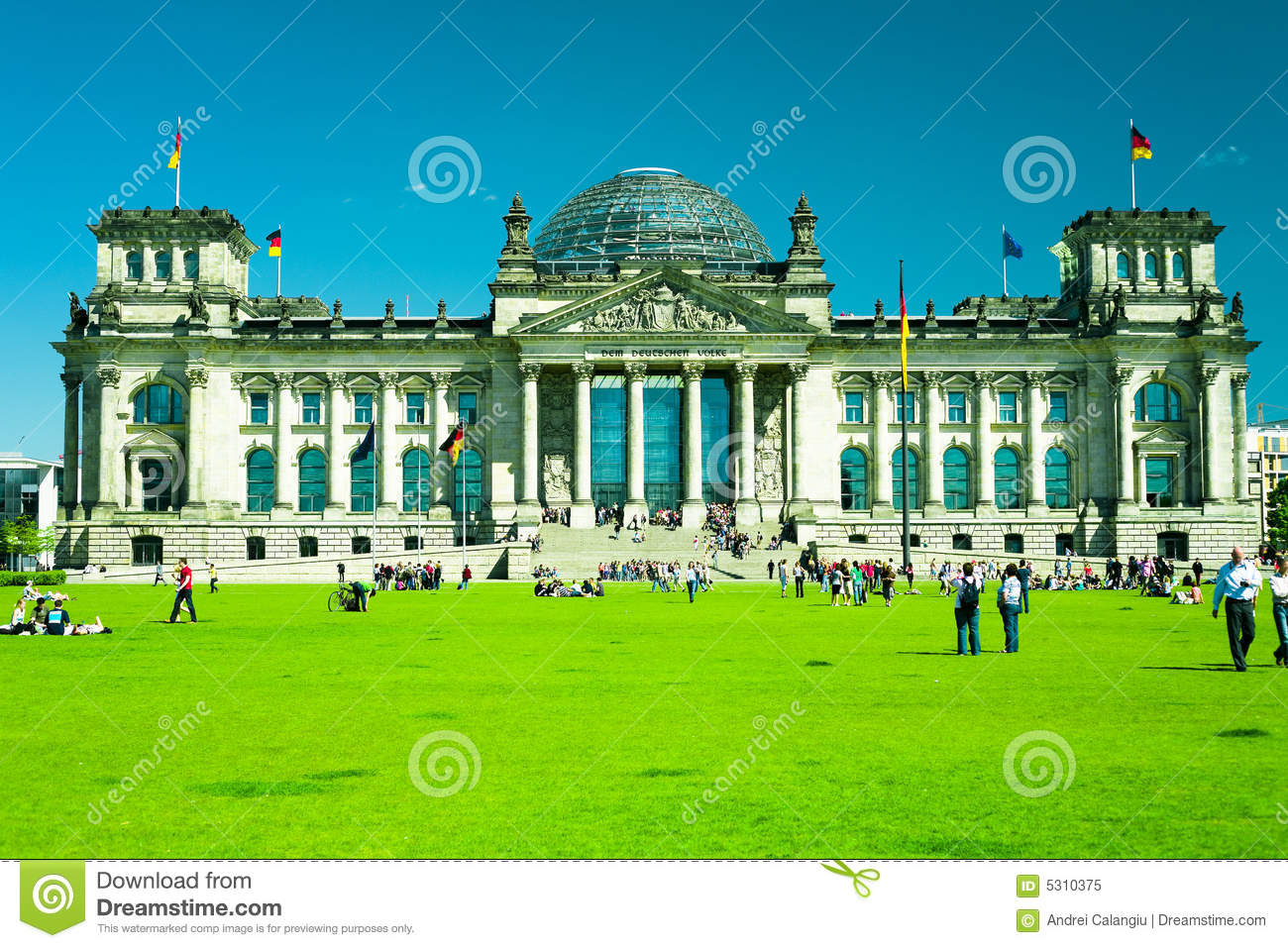 Download Il Parlamento di Berlino immagine stock. Immagine di berlino - 5310375