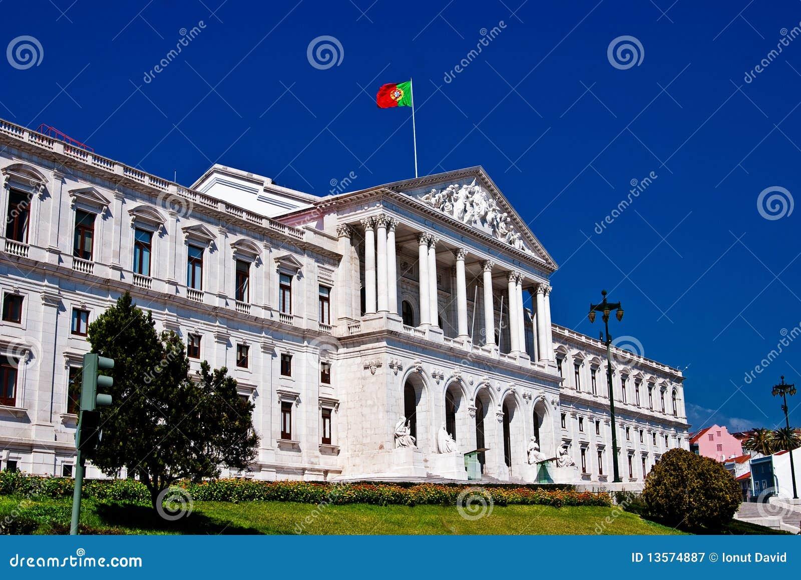 Il parlamento di lisbona fotografia stock libera da for Il parlamento