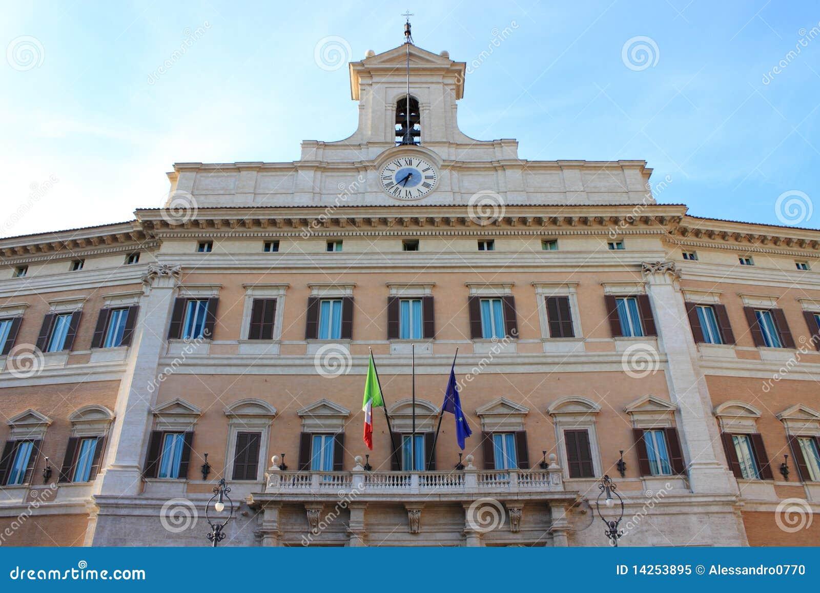 Il parlamento italiano immagine stock immagine di for Parlamento italiano storia