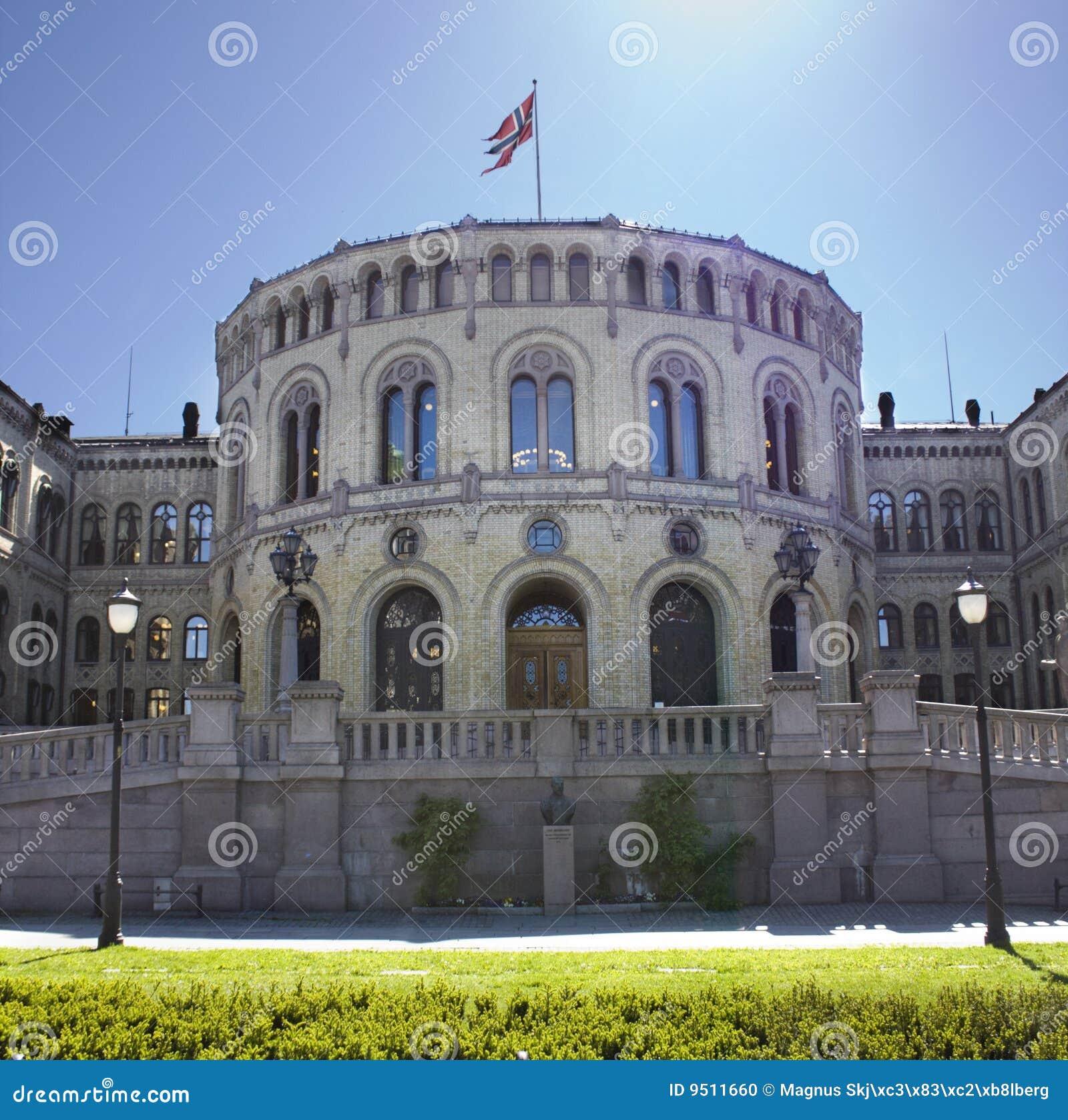 Il parlamento norvegese a oslo fotografia stock immagine for Il parlamento