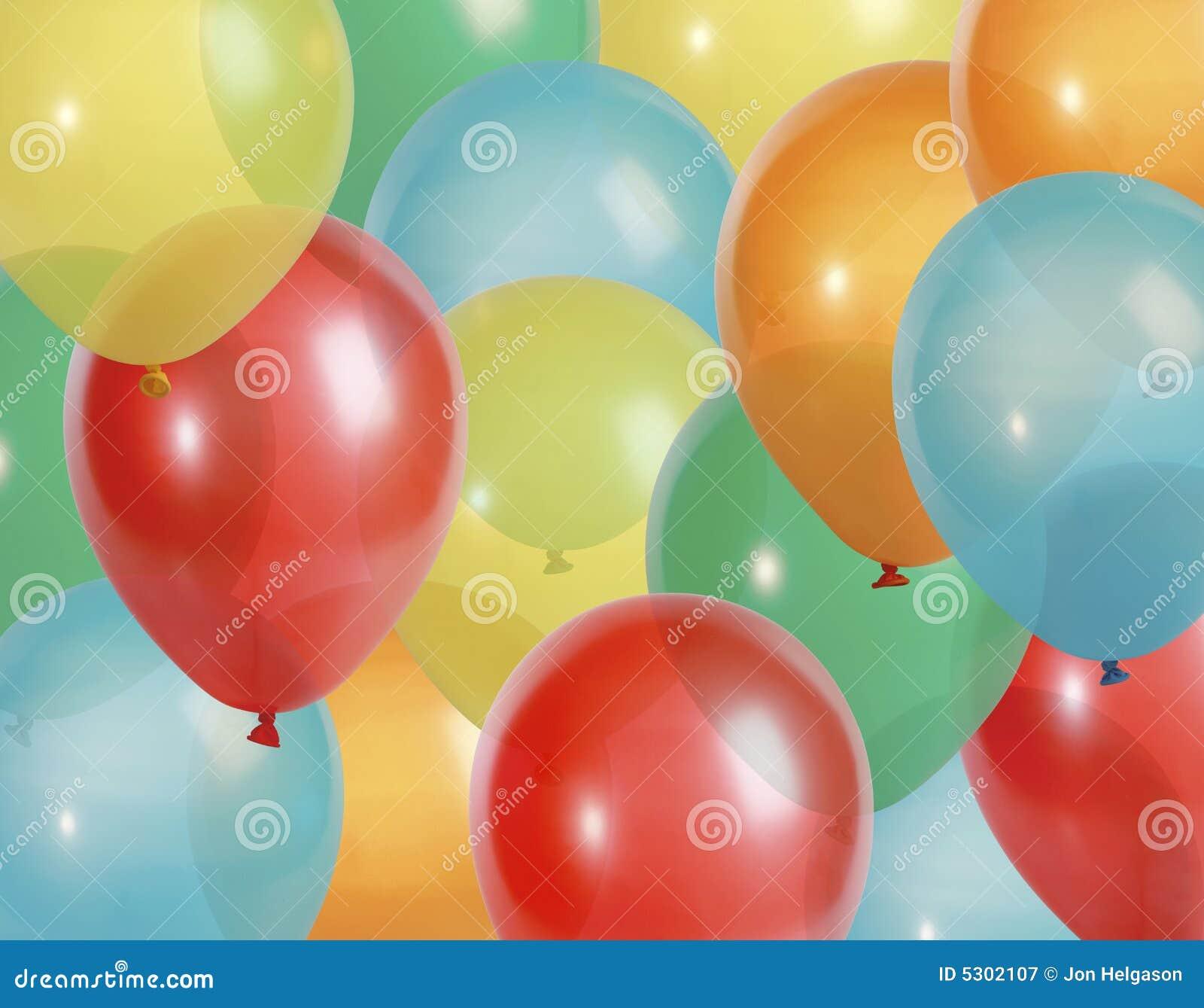 Download Il Partito Balloons La Priorità Bassa Immagine Stock - Immagine di aria, decori: 5302107