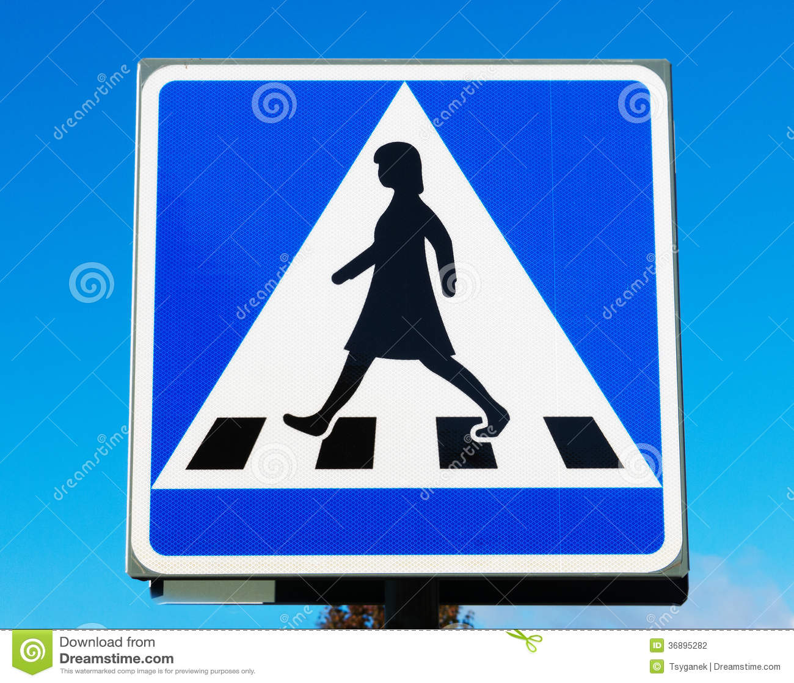 Download Il Passaggio Pedonale Firma Dentro La Svezia Fotografia Stock - Immagine di genere, camminata: 36895282