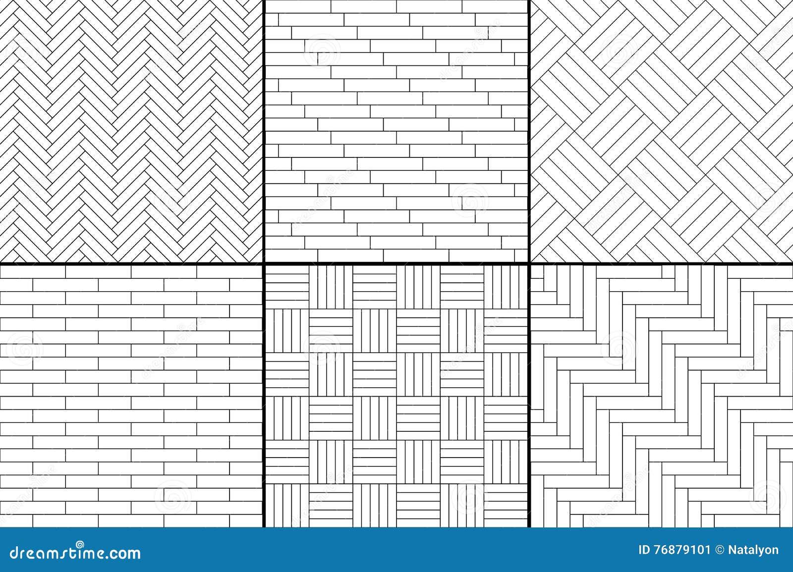 Il pavimento di parquet di legno semplice in bianco e nero for Pavimento bianco e nero
