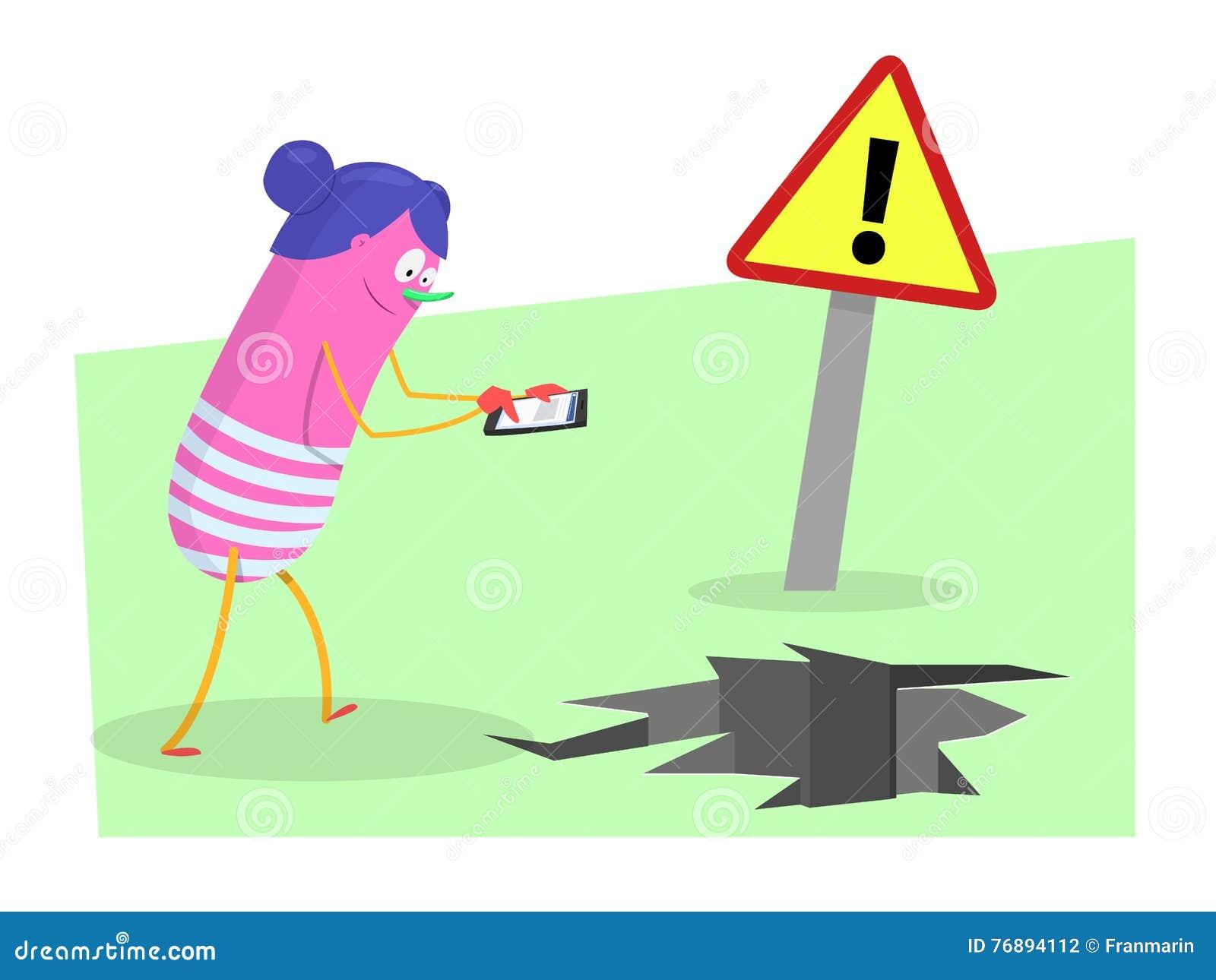 Il pericolo con gli smartphones