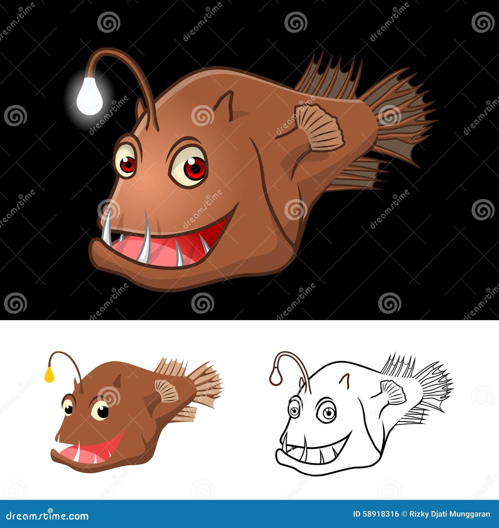 Il personaggio dei cartoni animati della rana pescatrice di alta