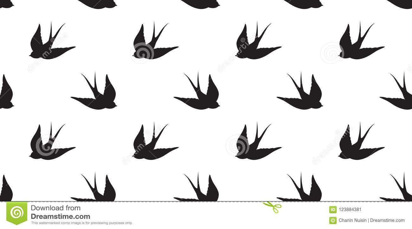 Il piccione senza cuciture di vettore del modello del gabbiano dell uccello ha isolato il fondo della carta da parati