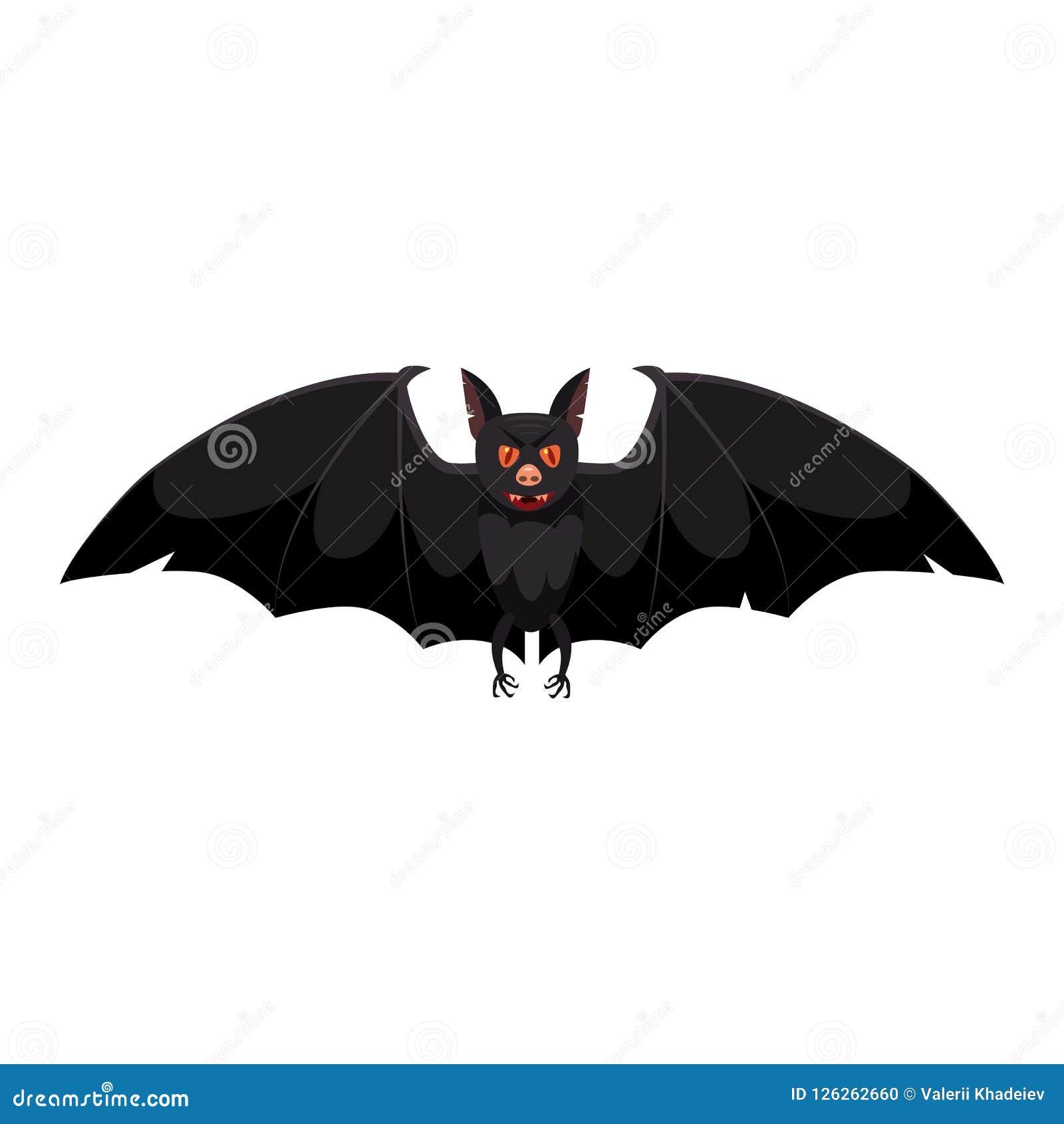 Il pipistrello, festa Halloween, carattere, attributo, icona, vettore, illustrazione, isolata, styyle del fumetto