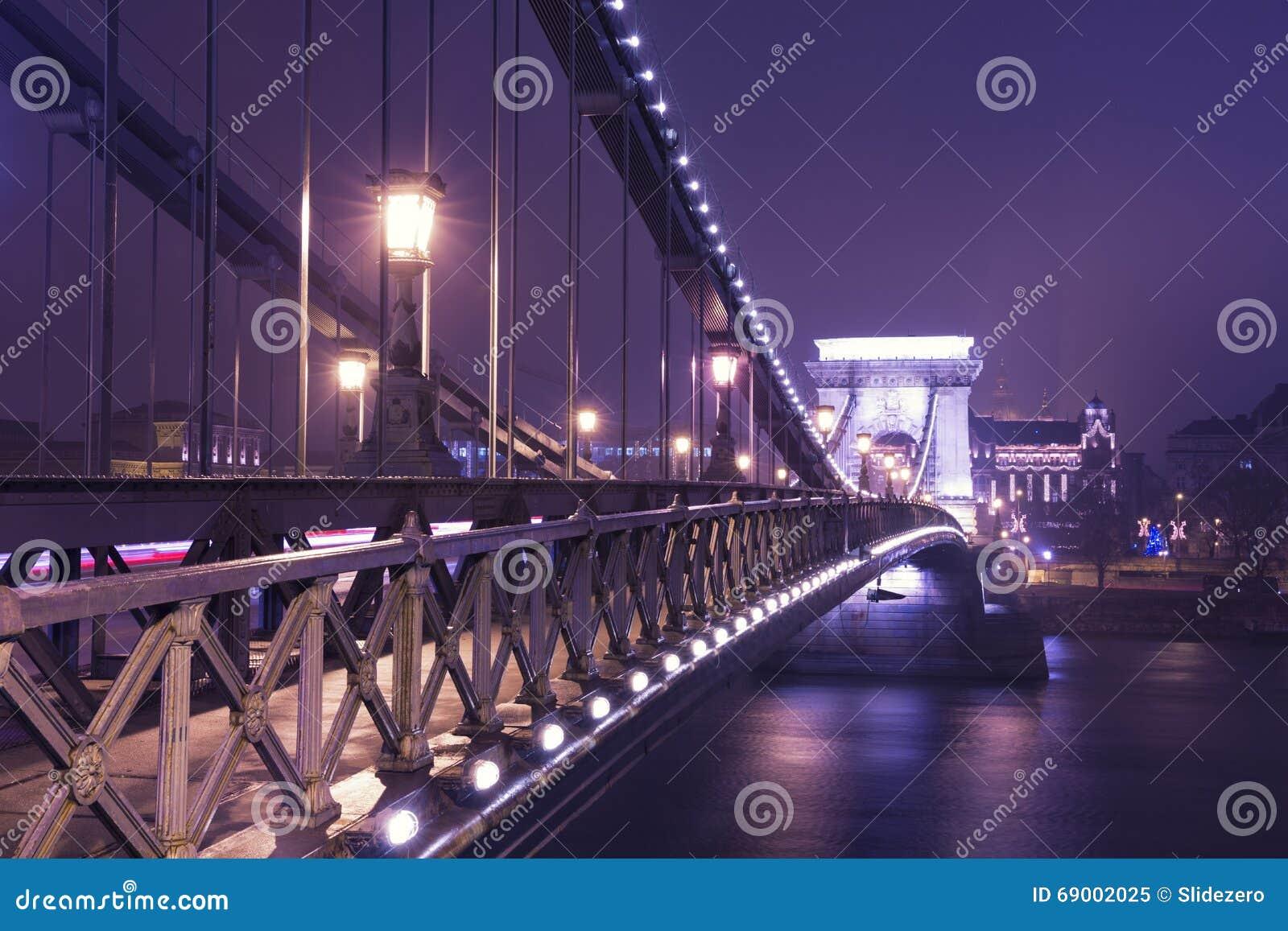 Il ponte a catena alla notte, Budapest
