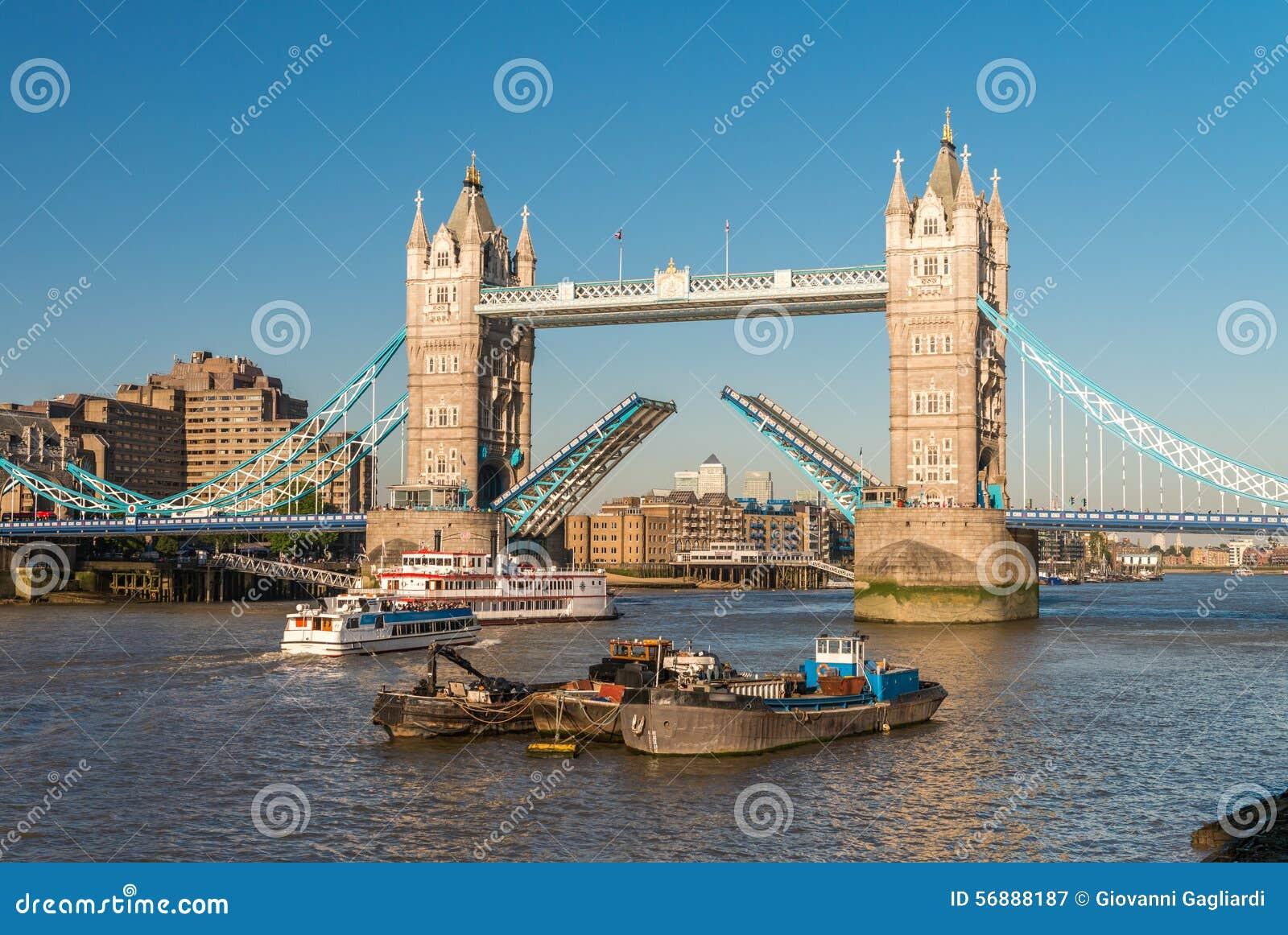 Il ponticello della torretta, Londra Apertura del ponte mobile