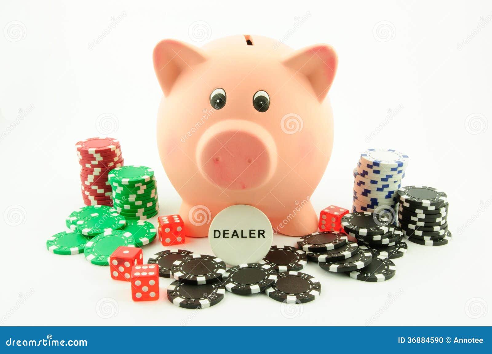 Download Il Porcellino Salvadanaio è Il Commerciante Fotografia Stock - Immagine di finanza, vita: 36884590