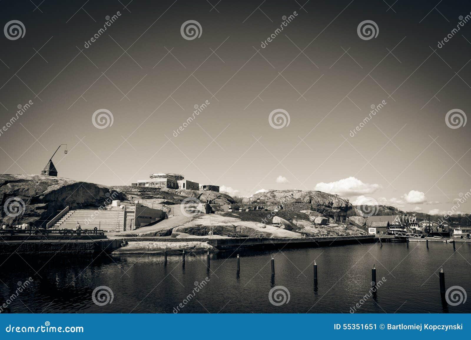Il porticciolo sul ende di Verdens della costa, Norvegia
