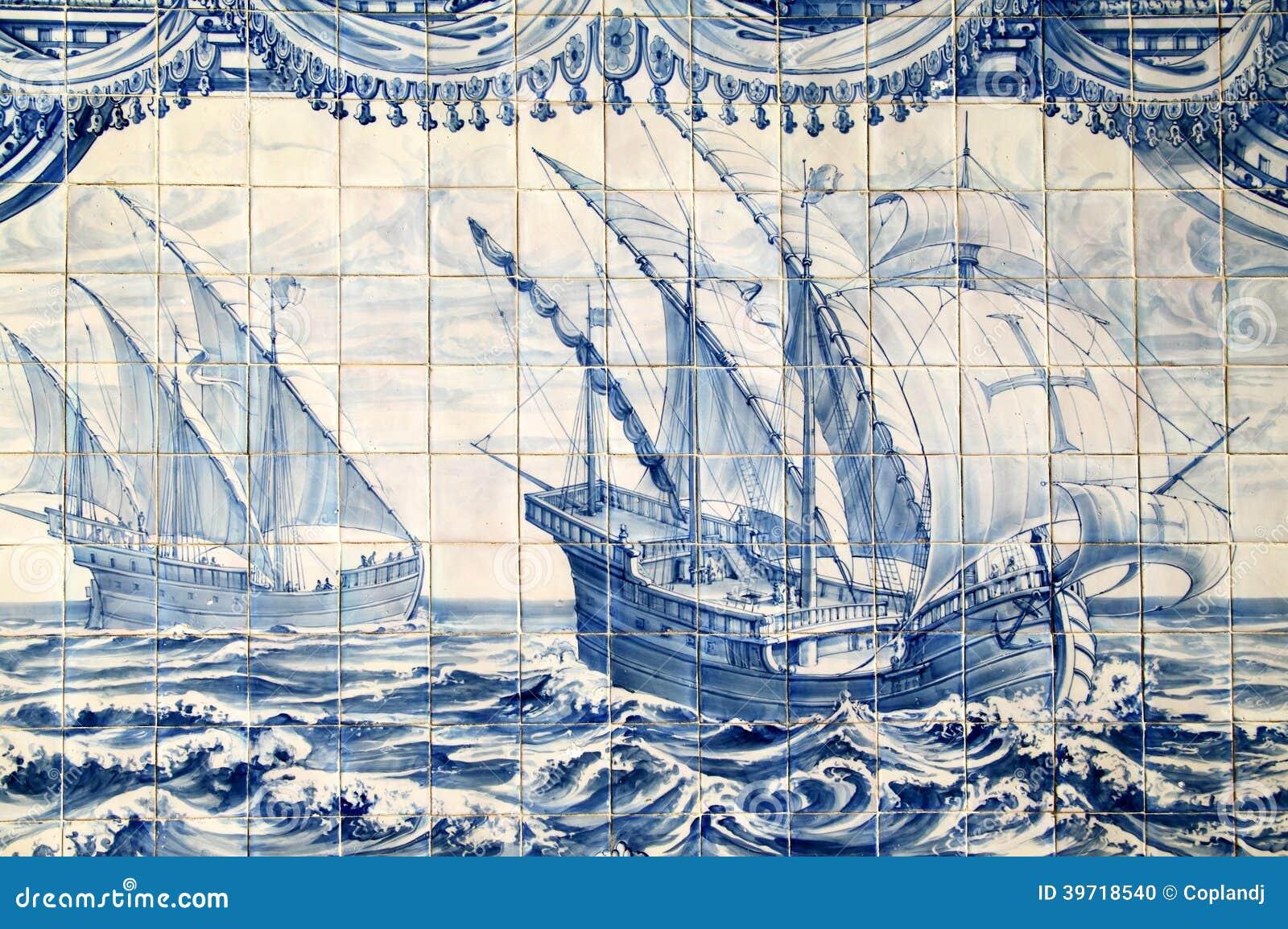 Il Portogallo Piastrelle Di Ceramica Storiche Di Azulejo