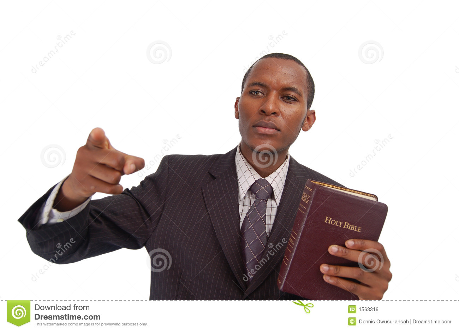 Il predicatore fotografia stock. Immagine di bibbia