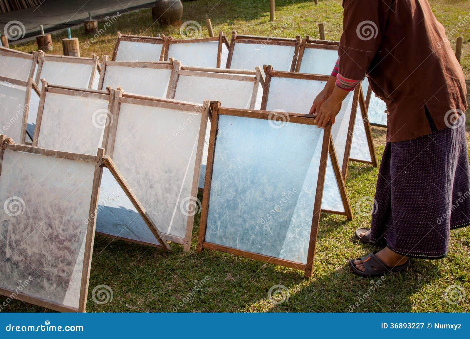Download Il Processo Di Fabbricazione Ha Fatto La Carta Del Gelso. Immagine Stock - Immagine di antico, grunge: 36893227