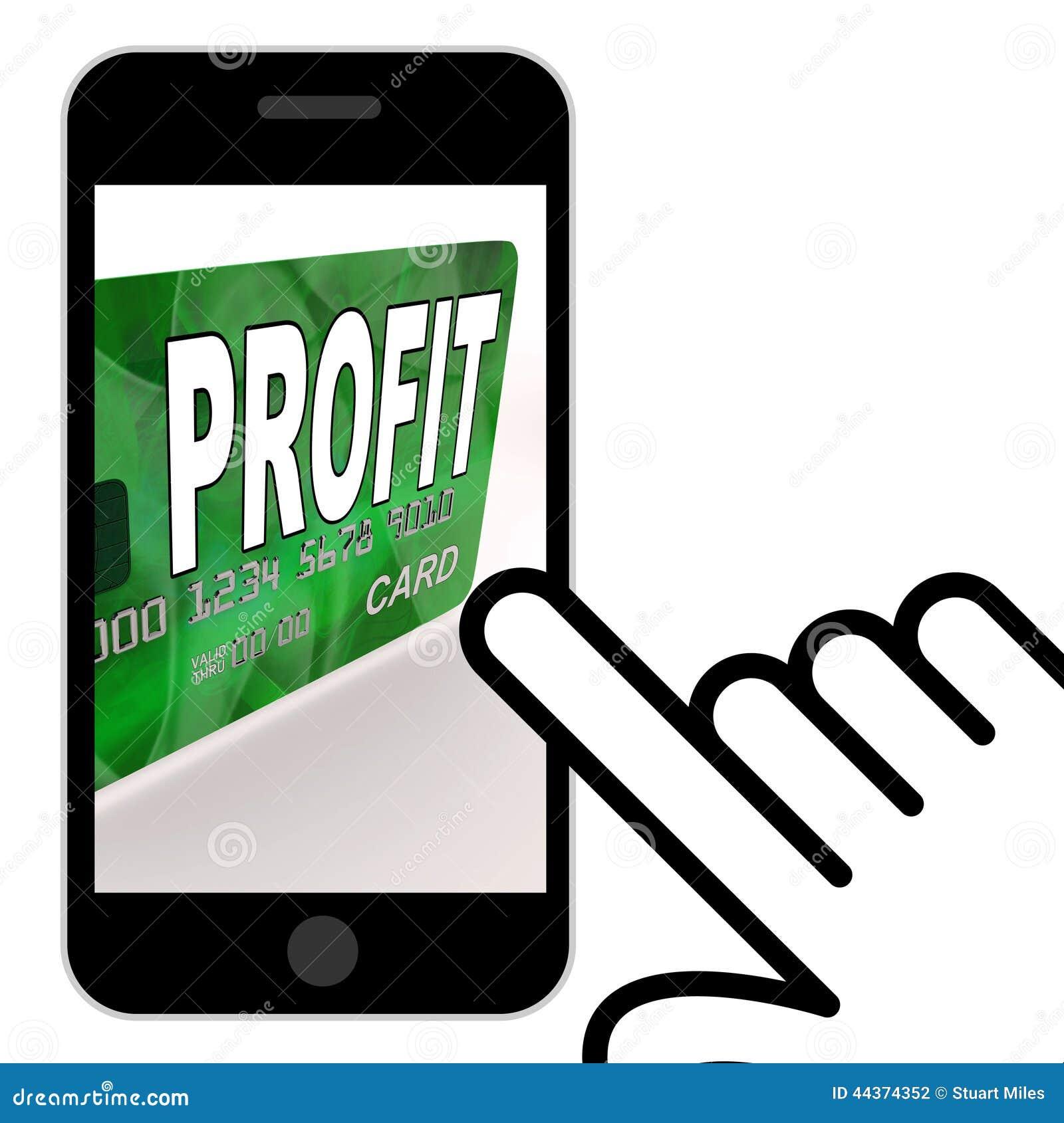 Il profitto sulle esposizioni della carta di debito di credito guadagna i soldi