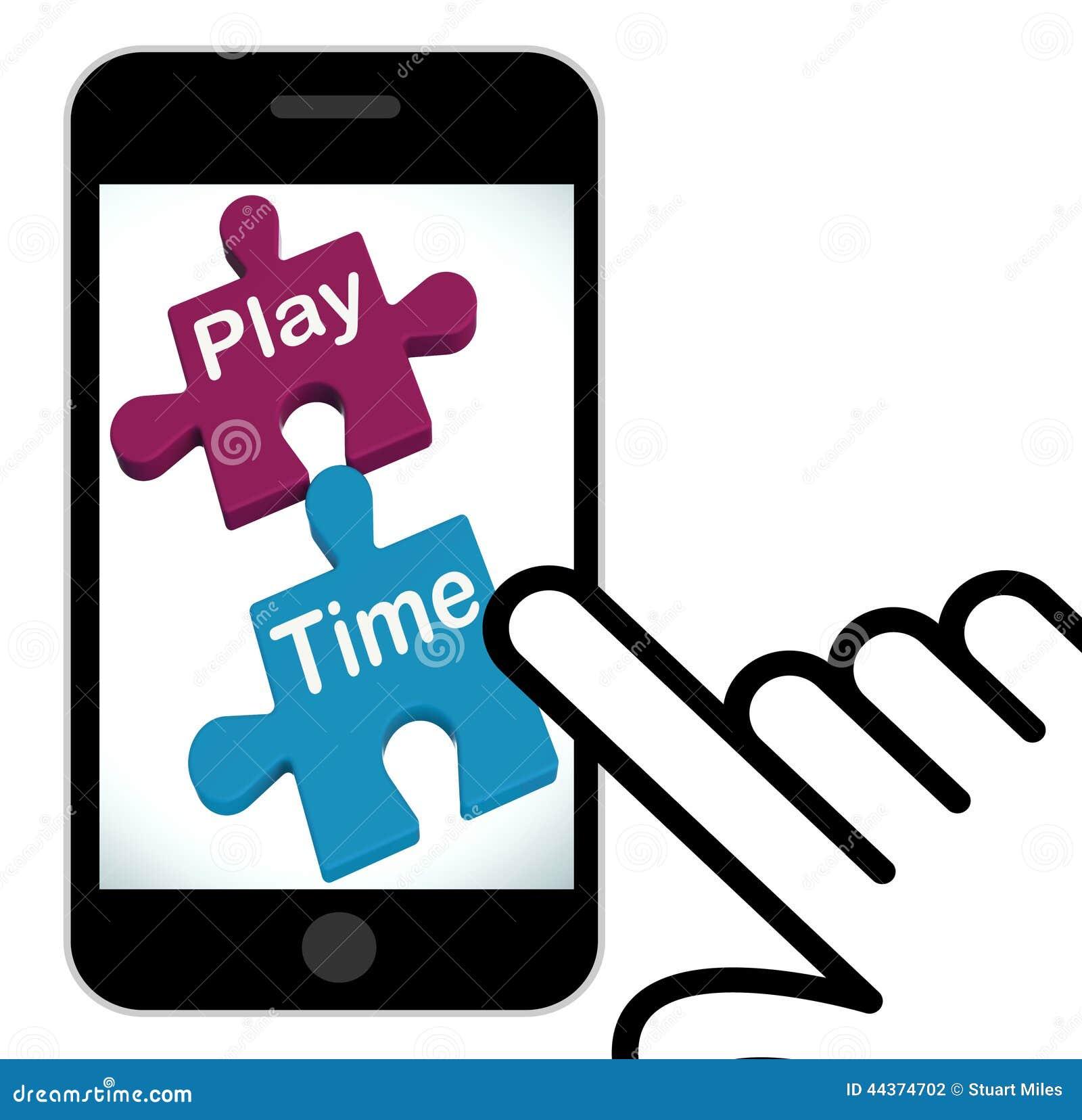 Il puzzle di tempo del gioco visualizza il divertimento e lo svago per i bambini