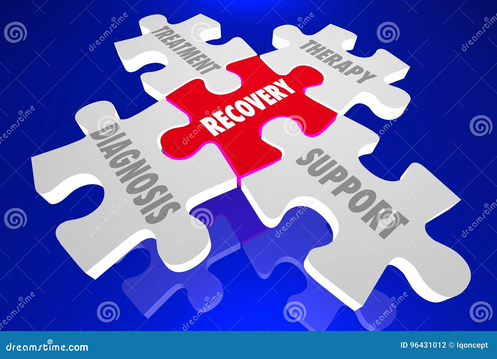 Terapia Di Sostegno.Il Puzzle Di Terapia Di Sostegno Del Trattamento Di Diagnosi