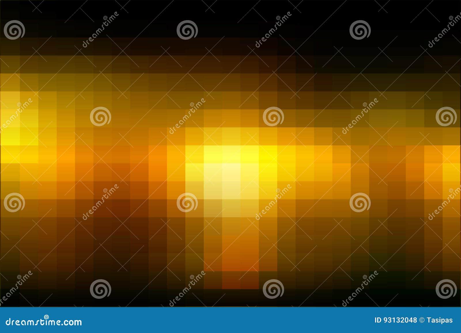 Il quadrato arancio nero del mosaico giallo piastrella il fondo