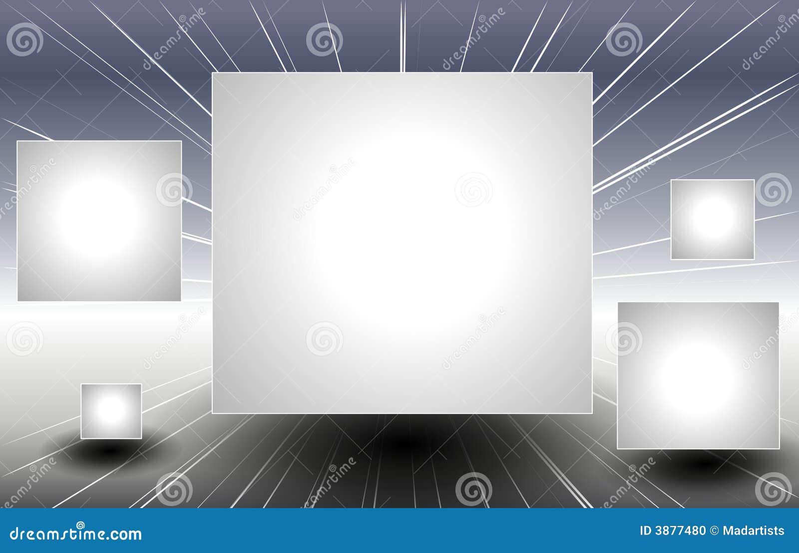 Il quadrato d argento riveste il volo di pannelli attraverso spazio