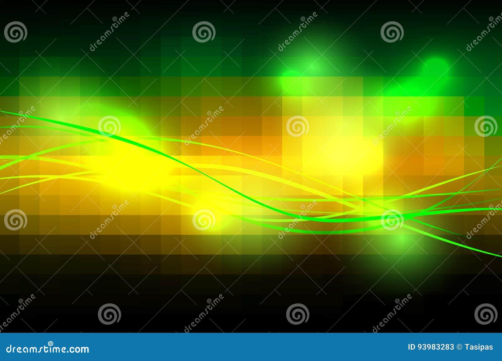 Il quadrato verde arancio di brown piastrella le linee del witn