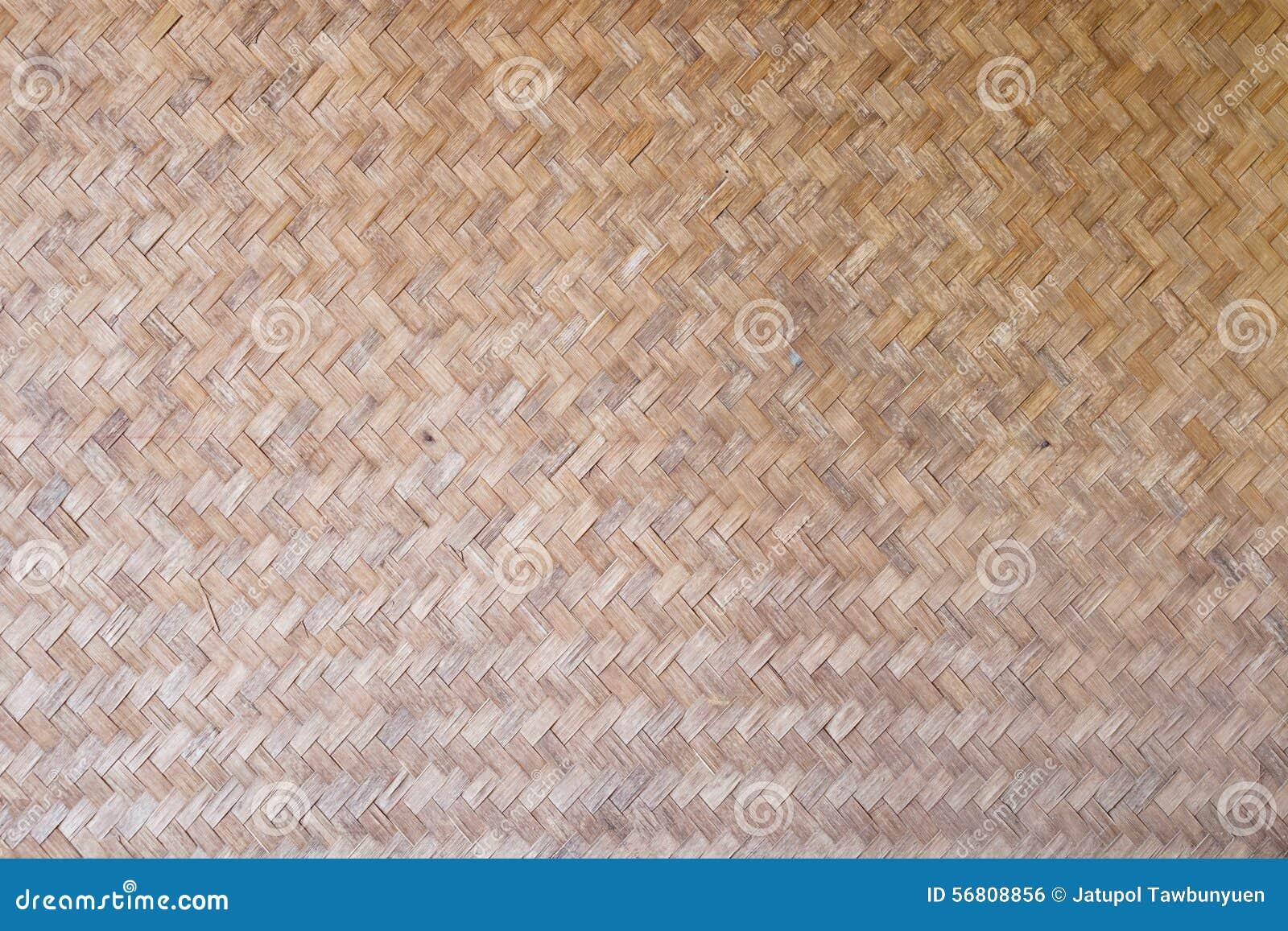 Il reticolo ed il disegno del bambù tailandese di stile handcraft