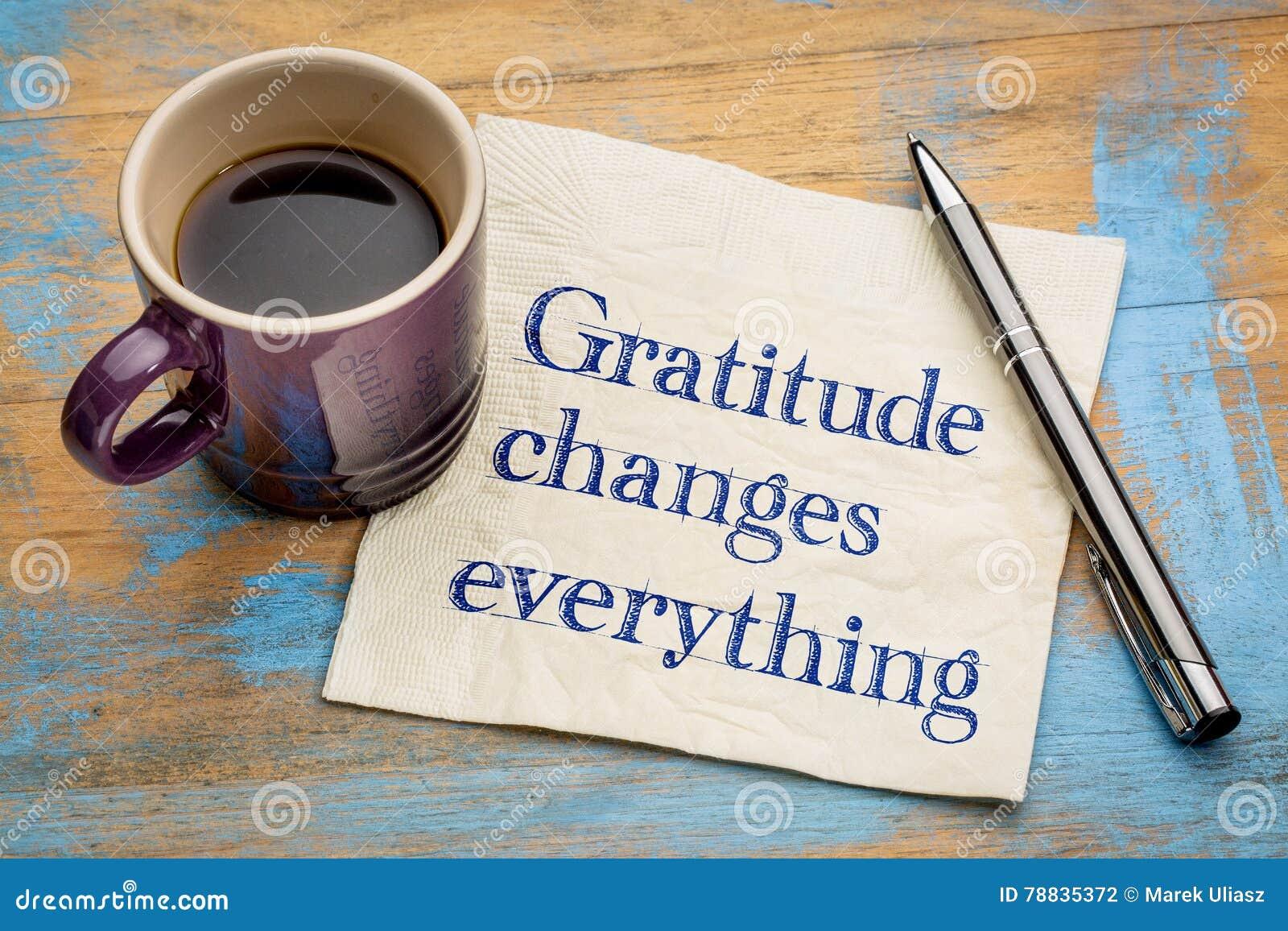 Il ringraziamento cambia tutto