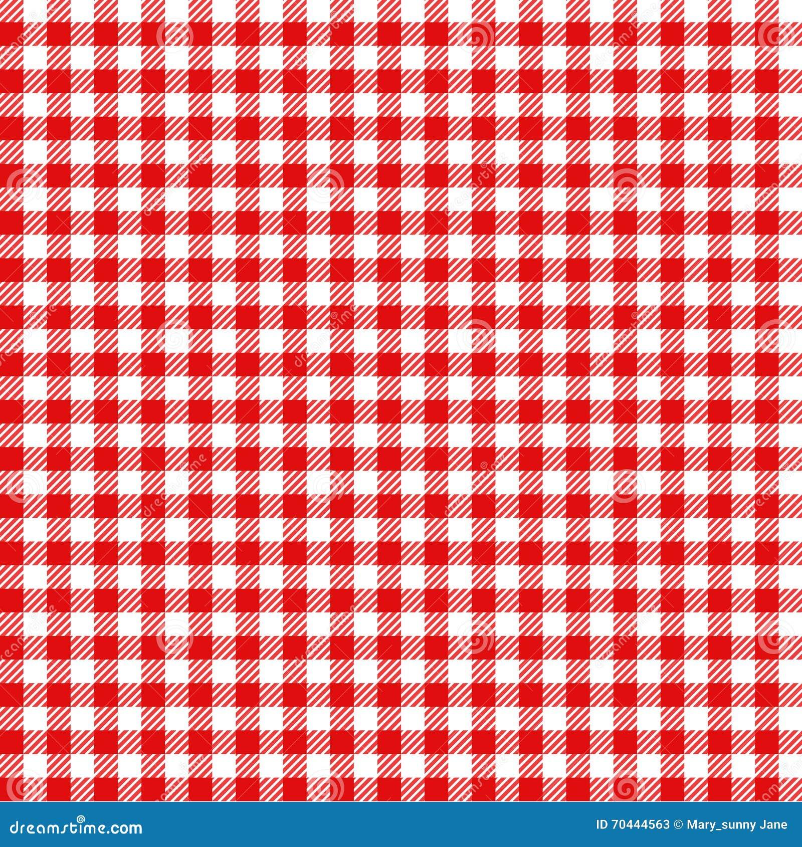 Il Rosso Ed Il Bianco Hanno Controllato Il Picnic A Quadretti Del