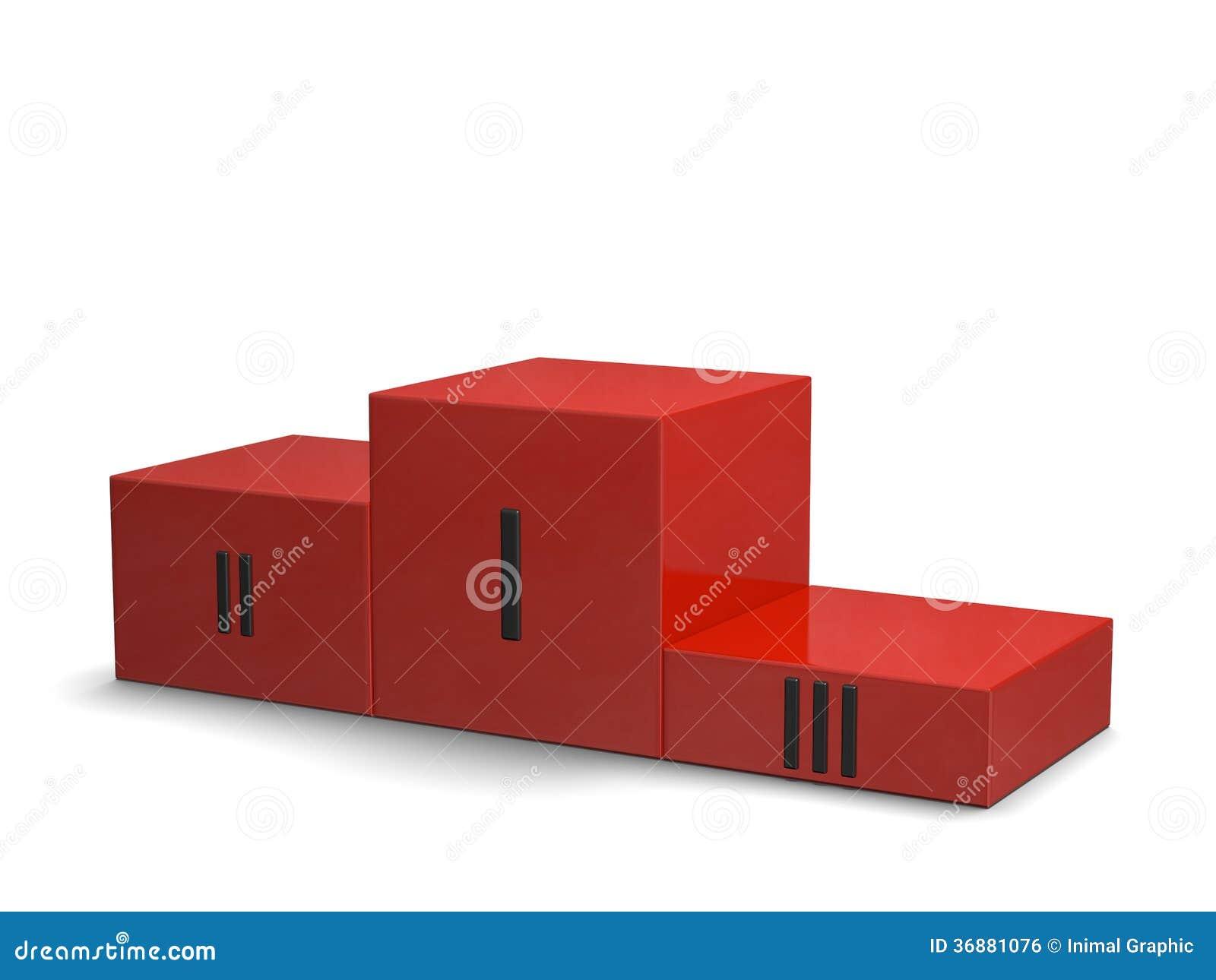 Download Il Rosso Mette In Mostra Il Podio Di Vittoria Con I Numeri Romani Neri Illustrazione di Stock - Illustrazione di eccellente, concorrenza: 36881076