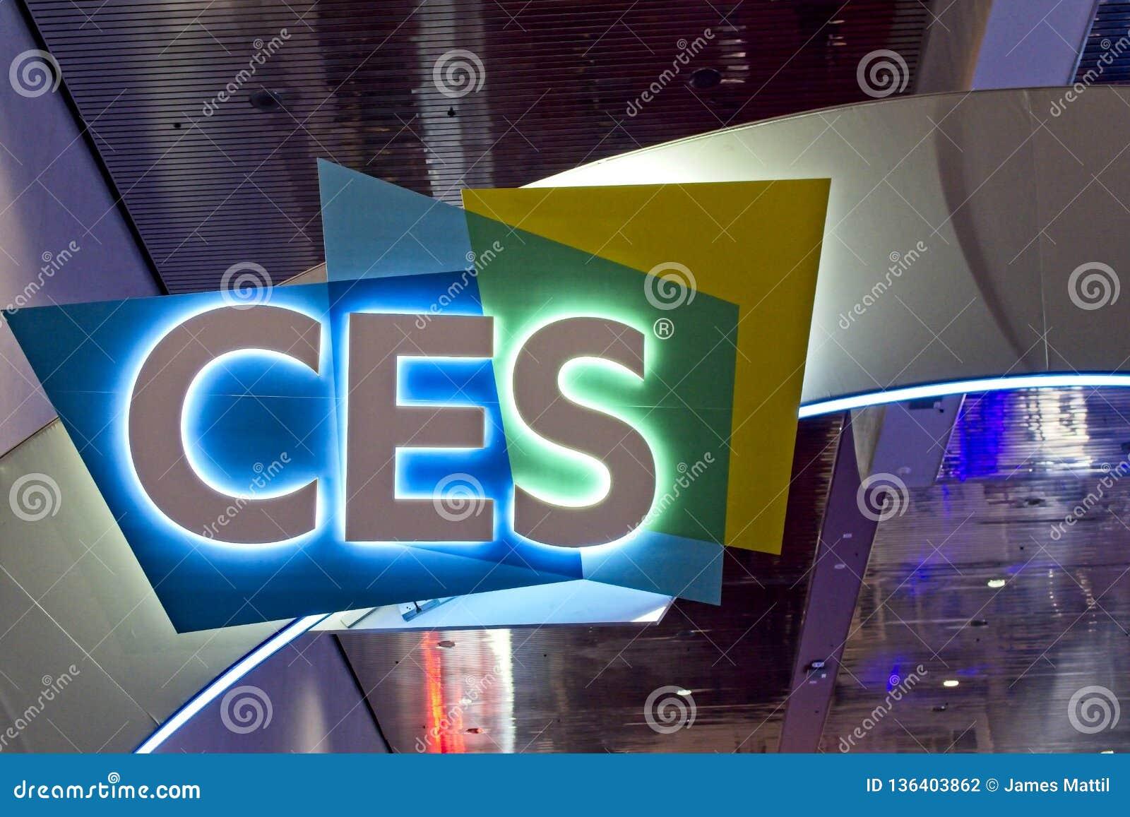 Il segno accoglie favorevolmente gli ospiti a 2019 CES