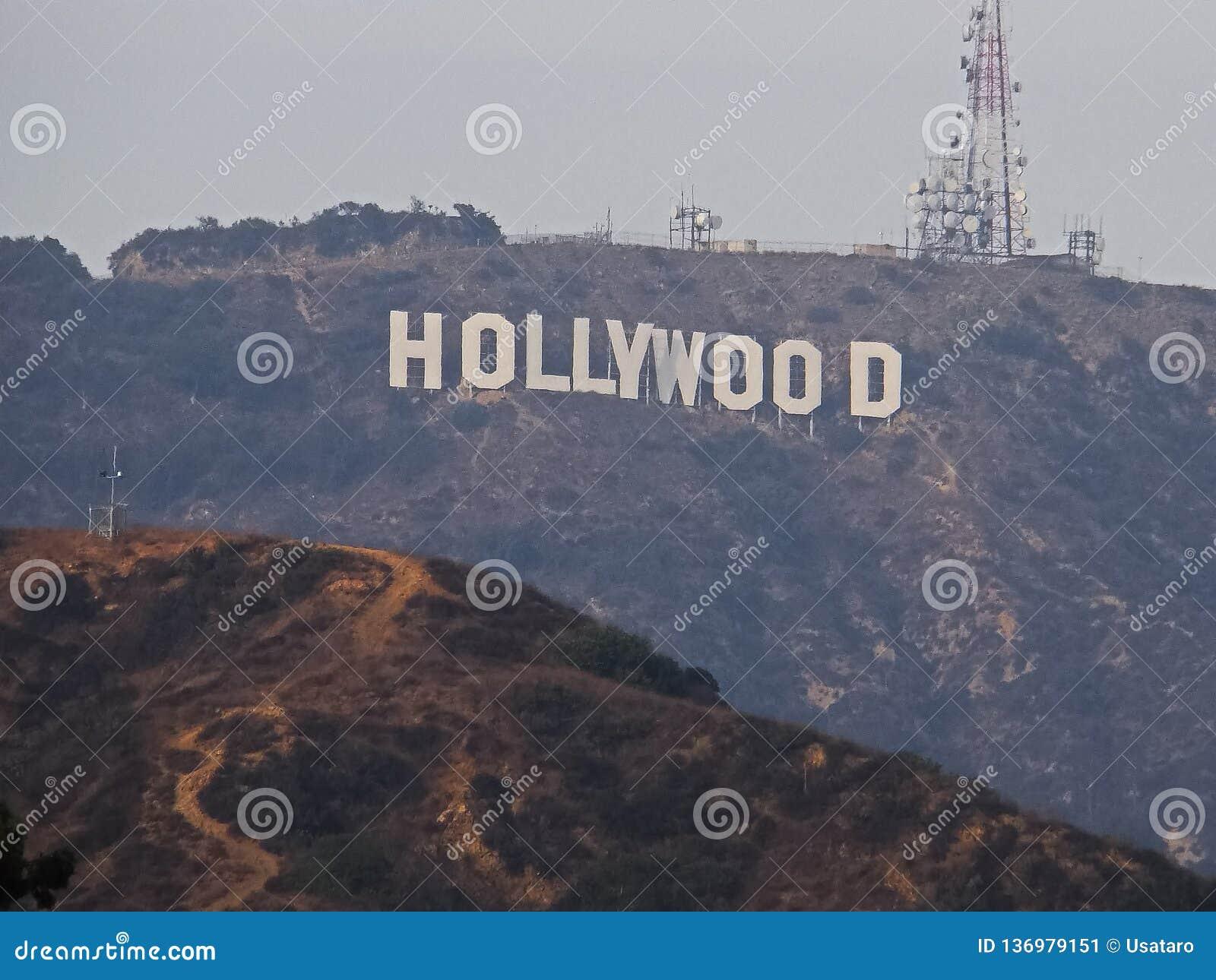 Il segno di Hollywood sul supporto Lee