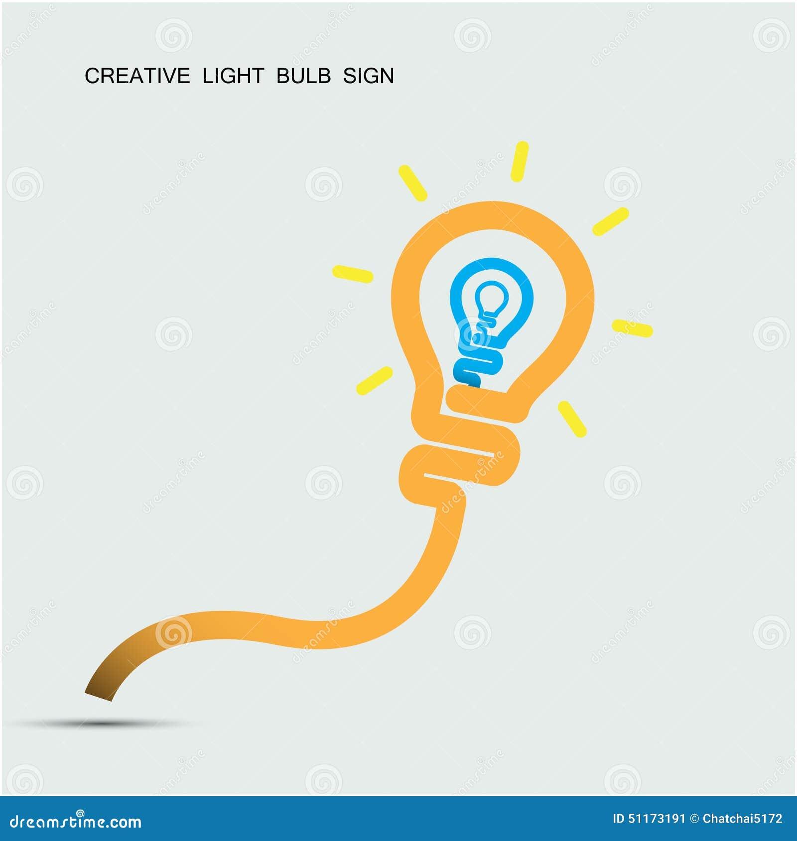 Illustrazione Vettoriale: Il simbolo creativo della lampadina con ...